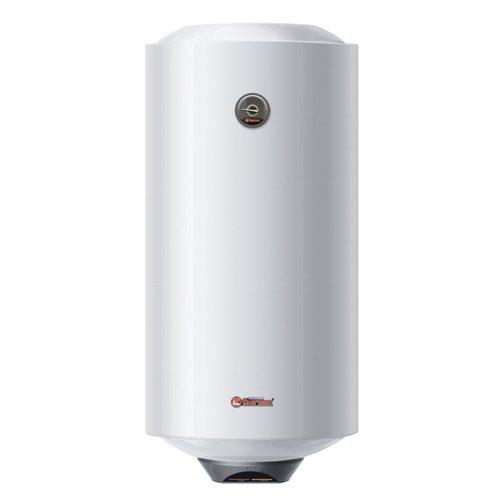 Накопительный водонагреватель на 100 литров Thermex ERS 100 V Thermo100 литров<br>Российский накопительный водонагреватель на 100 литров Thermex (Термекс) ERS 100 V Thermo   это современное устройство отечественного производства, которое позволит вам организовать в доме бесперебойное приготовление горячей воды для ее дальнейшего использования в личных целях всеми членами семьи. Прибор имеет круглую форму и вертикальное исполнение. Внутренний резервуар защищен эмалью. Модель не проточная, а потому может обеспечить достаточно высокую температуру воды. <br><br>Страна: Россия<br>Производитель: Россия<br>Способ нагрева: Электрический<br>Нагревательный элемент: Трубчатый<br>Объем, л: 100<br>Темп. нагрева, С: +75<br>Мощность, кВт: 2,5<br>Напряжение сети, В: 220 В<br>Плоский бак: Нет<br>Узкий бак Slim: Нет<br>Магниевый анод: Да<br>Колво ТЭНов: 1<br>Дисплей: Нет<br>Сухой ТЭН: Нет<br>Защита от перегрева: Есть<br>Покрытие бака: Биостеклофарфор<br>Тип установки: Вертикальная<br>Подводка: Нижняя<br>Управление: Механическое<br>Размеры ШхВхГ, см: 44,5x90,3x45,9<br>Вес, кг: 26<br>Гарантия: 2 года<br>Ширина мм: 445<br>Высота мм: 903<br>Глубина мм: 459