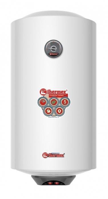 Электрический накопительный водонагреватель Thermex50 литров<br>Модный и современный Thermex (Термекс) Thermo 50 V Slim сочетает в себе оригинальный дизайн и непревзойденное качество. Преимуществом модели является максимально ускоренный процесс нагрева воды. На корпусе установлен регулятор температуры, благодаря которому можно выставить желаемый режим нагрева. Магниевый анод надежно защищает внутренний бак от коррозии и солевых отложений.<br>Особенности и преимущества:<br><br>Низкая чувствительность к большому потреблению воды. Номинальная мощность ТЭНов 2,5 кВт обеспечивает эффективный нагрев при активном потреблении горячей воды;<br>Быстрое получение горячей воды после включения. За считанные минуты после включения в сеть потребитель получает полный бак горячей воды: 36 мин.   30 л, 60 мин.   50 л, 96 мин.   80 л, 120 мин.   100 л;<br>Два года гарантии на основные компоненты: нагревательный элемент, термостат, лампочки-индикаторы, уплотнительные прокладки, индикатор температуры, предохранительный клапан.<br><br>Одна из особенностей водонагревателей из семейства Thermo   быстрое приготовление горячей воды, что обеспечивает комфорт их эксплуатации. Оборудование разработано компанией Thermex   известным отечественным производителем, продукция которого пользуется особым спросом на российском рынке. Водонагреватели от компании Thermex   это отличное качество, передовые решения, высокая надежность и безопасность.<br><br>Страна: Россия<br>Производитель: Россия<br>Способ нагрева: Электрический<br>Нагревательный элемент: Трубчатый<br>Объем, л: 50<br>Темп. нагрева, С: 80<br>Мощность, кВт: 2,5<br>Напряжение сети, В: 220 В<br>Плоский бак: Нет<br>Узкий бак Slim: Да<br>Магниевый анод: Да<br>Колво ТЭНов: 1<br>Дисплей: Нет<br>Сухой ТЭН: Нет<br>Защита от перегрева: Да<br>Покрытие бака: Биостеклофарфор<br>Тип установки: Вертикальная<br>Подводка: Нижняя<br>Управление: Механическое<br>Размеры ШхВхГ, см: 37,8x72,2x36,5<br>Вес, кг: 17<br>Гарантия: 2 года<br>Ширина мм: 378<br>Высота мм: