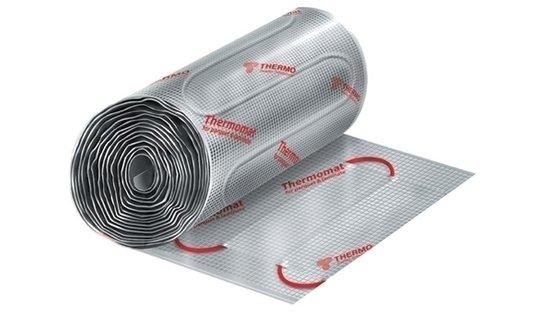 Теплый пол Thermo TVK-130 LP 2 м.квНагревательные кабели<br>&amp;laquo;TVK-130 LP 2 м.кв&amp;raquo; представляет собой термомат: кабель с двумя греющими металлическими жилами, оснащенными надежной изоляцией, размещен на армированной алюминиевой фольге, которая выполняет роль экрана. Предназначен такой теплый пол для быстрой укладки сухого типа под ламинат или паркетную доску. Для более комфортной и безопасной эксплуатации представленного оборудования рекомендуется использовать терморегулятор.<br>Особенности и преимущества теплых полов серии Thermomat TVK от компании Thermo:<br><br>готовые решения под любую площадь поверхности;<br>укладка под паркет или ламинат;<br>двужильный кабель;<br>отсутствие электромагнитных полей;<br>полная герметичность;<br>управление уровнем нагрева мата с точностью до 1 &amp;deg;С;<br>5 слоев изоляции;<br>отсутствует электромагнитное излучение;<br>нет внутренних соединений, снижающих надежность и безопасность;<br>наличие металлического экрана и заземления (защита от поражения током);<br>не требуются навыки электромонтажных работ (сделай сам);<br>не боится влаги (может работать даже в воде);<br>универсальный (может использоваться в помещениях любого типа);<br>первое включение обогрева пола &amp;ndash; сразу после монтажа и подключения.<br><br>Комплект без регулятора включает в себя:<br><br>нагревательный мат Thermomat;<br>изолирующую гофрированную трубку для термодатчика;<br>инструкцию на русском языке.<br><br><br>Thermomat &amp;ndash; это семейство нагревательных матов для организации теплого пола, разработанное известным шведским брендом Thermo. Серия включает в себя три типа термоматов разной удельной мощности: 130,0 Вт/кв.м. &amp;ndash; для обогрева стандартных помещений, 180,0 Вт/кв.м. &amp;ndash; для холодных помещений. А также специальную линейку для укладки под ламинат и паркет &amp;ndash; LP. Одна из главных отличительных особенностей &amp;ndash; это официальная бессрочная гарантия, которая является самым надежным показателем высоко