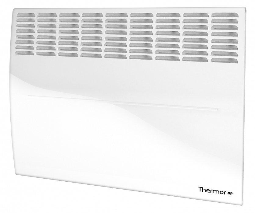 Конвектор электрический Thermor20 м? - 2.0 кВт<br>Модель электрического конвектора Thermor (Термор) Evidence 3 Meca 2000 изготовлена для качественного обогрева помещений с небольшой площадью. Прибор идеально подойдет для монтажа в квартирах и офисах. Агрегат отличается высокой производительностью работы и при этом работает бесшумно. Благодаря специальным защитным датчикам, прибор не выходит из строя во время резких перепадов электрического напряжения.<br>Особенности рассматриваемой модели конвектора от бренда Thermor:<br><br>Закрытый монолитный нагревательный элемент, срок службы более 25 лет<br>Механический термостат<br>Надежное механическое управление<br>Экологичный обогрев, без сжигания кислорода и пыли<br>Технология антипылевой защиты ASP<br>Влагозащищенное исполнение IP 24 (не боится влажности и брызгов)<br>Защита от падения (встроенный датчик автоматически выключает прибор при падении)<br>Защита от перегрева<br>Защита от перепадов напряжения (выдерживает перепады от 150 до 240 вольт)<br>Функция Auto Restart (восстанавливает работу в прежнем режиме при скачках напряжения)<br>Простой и быстрый монтаж на стену (или на ножки с колёсиками и ручкой (опция))<br>Ультратонкий дизайн, кристально белый цвет, отсутствие острых углов<br>Специальная многоэтапная технология покрытия корпуса<br>Прибор класса 2 - не требует заземления  <br><br>Evidence 3 Meca   это современные приборы, предназначенные для обогрева небольших помещений от компании Thermor. Модели отличаются универсальностью в установке: могут быть закреплены на стене, а могут перемещаться внутри пространства помещения при помощи специальной подставки с колесиками (опция). Встроеная система защиты упрощает процесс эксплуатации оборудования.<br> <br><br>Страна: Франция<br>Производитель: Украина<br>Mощность, Вт: 2000<br>Площадь, м?: 25<br>Класс защиты: IP24<br>Настенный монтаж: Да<br>Термостат: Механический<br>Тип установки: Стена/пол<br>Длина конвектора: 820<br>Высота конвектора: 493<br>Отключение при перегреве: Е