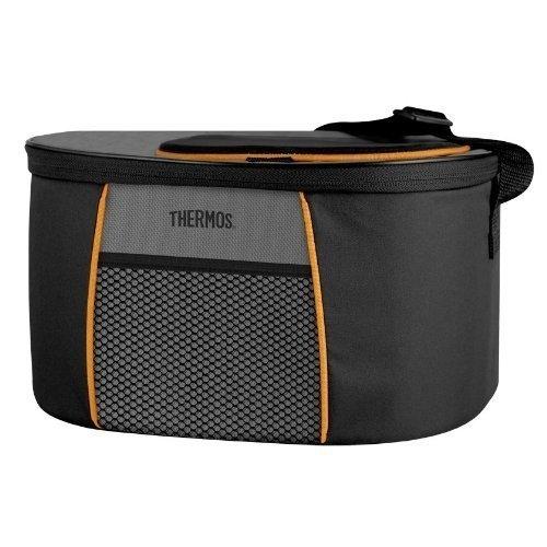 Сумка-холодильник Thermos E5 12 Can Cooler - Black/GrayСумки-холодильники<br>Модель термосумки Thermos (Термос) E5 12 Can Cooler - Black/Gray оснащена удобный клапаном быстрого доступа, который позволяет пользователю в любое время проконтролировать сохранность продуктов. Дополнительная термозащита обуславливает долгий срок хранения продуктов. Изделие оснащено специальными ручками, которые регулируются по длине, что существенно облегчает транспортировку сумки.<br>Основные достоинства рассматриваемой модели сумки-термоса от Thermos:<br><br>Изолирующий слой позволяет сохранять свежесть и температуру продуктов.<br>Внешняя ткань устойчива к загрязнениям и легка в уходе, внутренняя поверхность гигиенична и непромокаема.<br>Застежка молния создает необходимые условия для изоляции.<br>Прочные ручки.<br>Устойчивое дно сумки выполнено из материала, защищающего от пачкающих поверхностей.<br>Удобная молния для быстрого доступа.<br><br>Сумки-термосы от торговой марки Thermos станут для вас отличными спутницами в путешествии или на пикнике, где они просто незаменимы благодаря своим эксплуатационным свойствам и пользовательским характеристикам. Данные аксессуары помимо того, что имеют большое количество дополнительных отделений, карманов для всяких мелочей и косметичку, при хранении удобно складываются.<br><br>Страна: Великобритания<br>Объем, л: 8,5<br>Мощность, Вт: Нет<br>Питание, В: Нет<br>Темп. max, С: None<br>Темп. min, С: None<br>Габариты ВxШxД, мм: 300x230x178<br>Вес, кг: 1<br>Гарантия: 6 месяцев<br>Кабель питания: Нет<br>Назначение: Сумкахолодильник