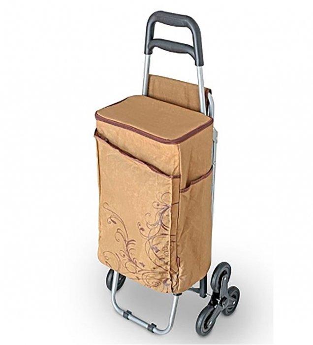 Сумка-холодильник Thermos Wheeled Shopping Trolley BrownСумки-холодильники<br>Сумка-термос модели Thermos Wheeled Shopping Trolley Brown оснащена колесами, обеспечивающими удобство ее перемещения, а также позволяет хранить большой объем различных продуктов. Внешний материал такого аксессуара очень легко очищается и обеспечивает изолированность содержимого от воздействий внешней среды. Сумка складывается в небольшой походный стул.<br>Особенности и преимущества сумок-термосов представленной серии от компании Thermos:<br><br>Изолирующий слой Isotec от Thermos позволяет сохранять свежесть и температуру продуктов.<br>Внешняя ткань из нейлона устойчива к загрязнениям и легка в уходе, внутренняя поверхность гигиенична и непромокаема.<br>Застежка молния создает необходимые условия для изоляции.<br>Прочные ручки по длине оптимальны для переноски на плече<br>Устойчивое дно сумки выполнено из материала, защищающего от пачкающих поверхностей.<br>Удобная молния для быстрого доступа.<br>Дополнительный внешний карман для аксессуаров.<br><br>Торговая марка Thermos представила российскому рынку удобные и функциональные сумки-термосы, которые станут отличным приобретением для тех, кто любит пикники или долгие прогулки, а также вынужден долгое время проводить в дороге. Сумка-термос прекрасно сохраняет температуру напитков и блюд, а если использовать аккумуляторы холода, то такой аксессуар сможет целые сутки работать в качестве портативного холодильника. Семейство сумок-термосов от бренда Thermos весьма разнообразно: на страницах нашего онлайн-каталога посетители найдут изделия не только различных цветовых решений, но также и конструкций, и объемов.<br><br>Страна: Великобритания<br>Объем, л: 28<br>Мощность, Вт: None<br>Питание, В: Нет<br>Темп. max, С: None<br>Темп. min, С: None<br>Габариты ВxШxД, мм: 490x310х190<br>Вес, кг: 4<br>Гарантия: 6 месяцев<br>Кабель питания: Нет<br>Назначение: Сумкатермос
