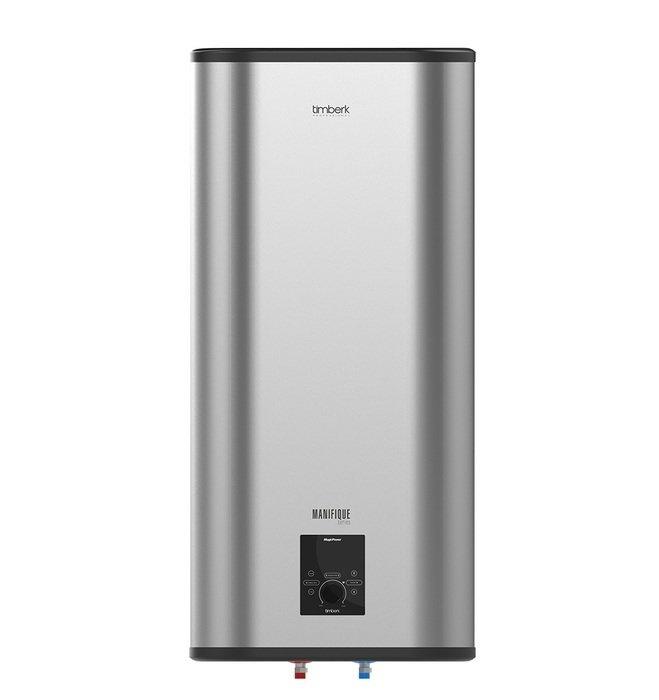 Водонагреватель Timberk SWH FSM5 100 V100 литров<br>SWH FSM5 100 V является водонагревателем &amp;ndash; самым оптимальным решением в качестве дополнительного, и основного источников для осуществления горячего водоснабжения. Такое устройство может использоваться для обеспечения подогретой водой как одной точки, так и нескольких. Накопительный водонагреватель установить значительно чаще, чем проточный, потому что он более экономичен и обеспечивает более комфортный, а также легко регулируемый поток нагретой воды.<br>Представленная модель обеспечена:&amp;nbsp;<br><br>Микропроцессорной панелью управления Magic Power.<br>Технологией Touch Handle - универсальной ручкой вкл/выкл, а также, одновременно, регулятором. режимов работы данного прибора, выбором температуры нагрева.<br>Цифровой индикацией температурного режима непосредственно на LED - дисплее с точностью до 10&amp;deg;С.Звуковым сигналом при включении/отключении устройства, а также звуковым сигналом при отключении нагревания воды.<br>Встроенной системой самодиагностики (для сигнализирования о неисправностях в работе и выведения на дисплее кодов ошибок).<br>Световой индикацией выбранного режима мощности.<br>Блокировкой панели для &amp;laquo;защиты от детей&amp;raquo;.<br>Пультом дистанционного управления в одном комплекте.<br>Равномерным нагревом воды за счет наличия оптимизированной системы переливов.<br>Равномерным нагревом воды за счет наличия оптимизированной системы переливов.<br>Высоким уровнем энергоэффективности: благодаря наличию слоя самой качественной теплоизоляции, которая равномерно без пустот заполняет внутреннее пространство между корпусом устройства и его баками. Реальное снижение потерь тепла достигается благодаря абсолютному отсутствию тепловых мостиков.<br>Cистемой экономии электричества Power Proof&amp;reg;, позволяющей устанавливать один из трех&amp;nbsp; режимов мощности в работе нагрева.<br>Позицией оптимального положения терморегулятора, соответствующей самой комфортной температуре подогрева