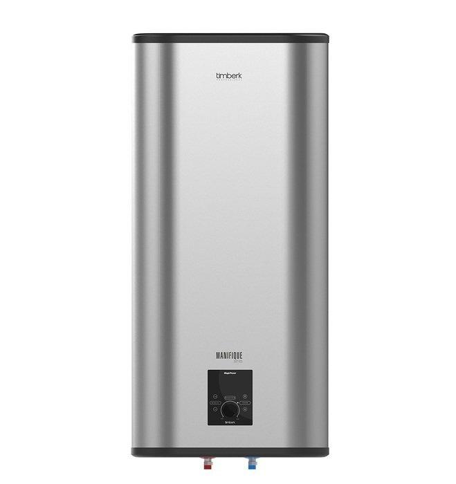Электрический накопительный водонагреватель Timberk SWH FSM5 50 V50 литров<br>SWH FSM5 50 V   водонагреватель, предназначенный для того, что бы обеспечивать горячей водой жилые дома или же квартиры в периоды отсутствия ее централизованной подачи. Также установка настенных водонагревателей может быть необходима с целью частичного обеспечения подогретой водой коттеджей или больших домов. Накопительный бак из нержавеющей стали обладает длительным сроком службы. Замена анода может производиться без необходимости в демонтаже нагревательного элемента.<br>Представленная модель обеспечена: <br><br>Микропроцессорной панелью управления Magic Power.<br>Технологией Touch Handle - универсальной ручкой вкл/выкл, а также, одновременно, регулятором. режимов работы данного прибора, выбором температуры нагрева.<br>Цифровой индикацией температурного режима непосредственно на LED - дисплее с точностью до 10 С.Звуковым сигналом при включении/отключении устройства, а также звуковым сигналом при отключении нагревания воды.<br>Встроенной системой самодиагностики (для сигнализирования о неисправностях в работе и выведения на дисплее кодов ошибок).<br>Световой индикацией выбранного режима мощности.<br>Блокировкой панели для  защиты от детей .<br>Пультом дистанционного управления в одном комплекте.<br>Равномерным нагревом воды за счет наличия оптимизированной системы переливов.<br>Равномерным нагревом воды за счет наличия оптимизированной системы переливов.<br>Высоким уровнем энергоэффективности: благодаря наличию слоя самой качественной теплоизоляции, которая равномерно без пустот заполняет внутреннее пространство между корпусом устройства и его баками. Реальное снижение потерь тепла достигается благодаря абсолютному отсутствию тепловых мостиков.<br>Cистемой экономии электричества Power Proof , позволяющей устанавливать один из трех  режимов мощности в работе нагрева.<br>Позицией оптимального положения терморегулятора, соответствующей самой комфортной температуре подогрева воды в баке прибор