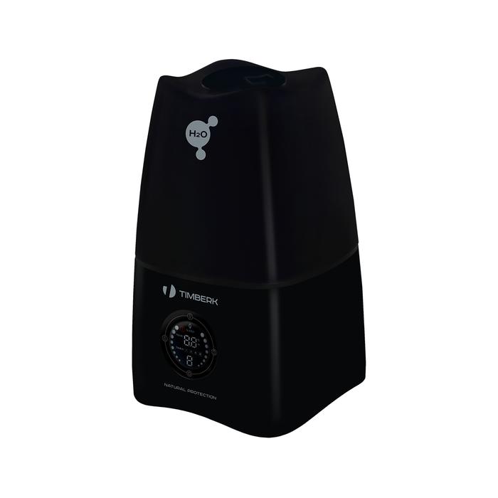 Увлажнитель воздуха Timberk THU UL 15E (BL)Ультразвуковые<br>Серия H20 ультразвуковых увлажнителей Timberk   это, как всегда, высокая производительность приборов и средний по вместительности резервуар для воды. Серия H20 представлена моделями как с механическим, так и с электронным управлением. Данная модель THU UL 15E (BL) обладает такими функциями как таймер, ночной режим работы, имеет сенсорную панель управления с небольшим дисплеем, так как оснащена электронной системой управление.<br>Особенности модели ультразвукового увлажнителя воздуха серии H20:<br><br>Ультразвуковой увлажнитель с электронным управлением;<br>Увлажнитель оснащен ультразвуковой мембраной повышенной мощности;<br>Сенсорная панель управления с цифровой индикацией температуры/влажности воздуха;<br>Регулировка интенсивности выхода пара;<br>Вместительный резервуар позволяет работать прибору в течение ночи без необходимости в добавлении воды   до 8 часов непрерывной работы;<br>Таймер на отключение прибора (значения 1, 2, 4 и 6 часов);<br>Режим  SLEEP  - работа прибора в ночное время с отключенной подсветкой;<br>Автоматическое отключение и световая индикация при отсутствии воды в ёмкости;<br>Устойчивая конструкция, вместительный резервуар для воды;<br>Тихая работа;<br>Прибор представлен в двух цветовых решениях   с корпусом белого и черного цвета.<br><br>Одной из новинок от Timberk, которая увидела свет в 2015 году, является увлажнитель с ультразвуковой мембраной серии H20. Скромный, классический дизайн, спокойное цветовое решение, устойчивый корпус с вместительным резервуаром для воды и высокая производительность по увлажнению   основные показатели серии H20. Увлажнители данной серии представлены двумя модификациями   с механическим и электронным управлением. Оба прибора допускает регулировку производительности пара и имеют индикацию при отсутствии воды в баке. Модель с электронным управлением THU UL 15E дополнительно оснащена таким функциями, как таймер на отключение и ночной режим. Приборы для увла