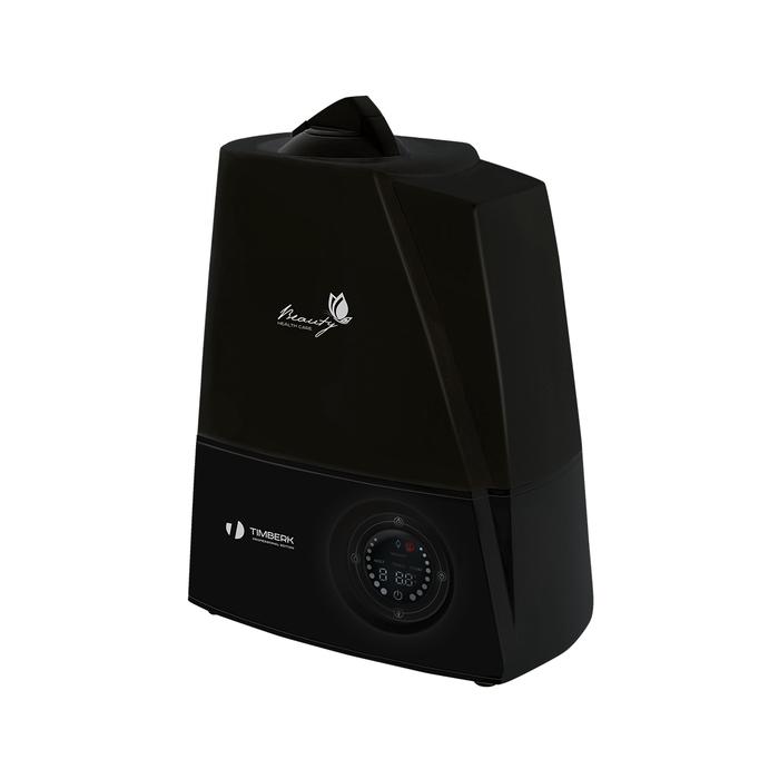 Увлажнитель воздуха Timberk THU UL 16E (BL)Ультразвуковые<br>Одна из самых вместительных моделей увлажнителей Timberk   прибор THU UL 16E (BL) может работать до 16 часов непрерывно без необходимости в наполнении резервуара. Помимо высокой производительности и функциональности данная модель увлажнителя с электронным управлением обладает также стильным современным дизайном и представлена в классических цветах   чёрный и белый.<br> Особенности модели ультразвукового увлажнителя воздуха серии Beauty:<br><br>Ультразвуковой увлажнитель с электронным управлением;<br>Увлажнитель оснащен ультразвуковой мембраной повышенной мощности;<br>Объем резервуара для воды   более 5 литров;<br>Сенсорная панель управления с цифровой индикацией температуры/влажности воздуха;<br>Регулировка интенсивности выхода пара (низкая/средняя/высокая);<br>Вместительный резервуар позволяет работать прибору в течение 16 часов без необходимости в добавлении воды;<br>Таймер на отключение прибора (возможность выбора значения от 1 до 12 часов);<br>Режим  SLEEP  - работа прибора в ночное время с отключенной подсветкой;<br>Автоматическое отключение и световая индикация при отсутствии воды в ёмкости;<br>Устойчивая конструкция, вместительный резервуар для воды;<br>Тихая работа;<br>Прибор представлен в двух цветовых решениях   с корпусом белого и черного цвета.<br><br>Одной из новинок от Timberk, которая увидела свет в 2015 году, является увлажнитель с ультразвуковой мембраной серии Beauty. Скромный, классический дизайн, устойчивый корпус с вместительным резервуаром для воды и высокая производительность по увлажнению   основные показатели данной серии. Данная серия представлена двумя модификациями   с механическим и электронным управлением. Оба прибора допускают регулировку производительности пара (механическим регулятором или кнопкой на панели управления)  и имеют световую индикацию при отсутствии воды в баке. Модель с электронным управлением THU UL 16E дополнительно оснащена таким функциями, как таймер на отк
