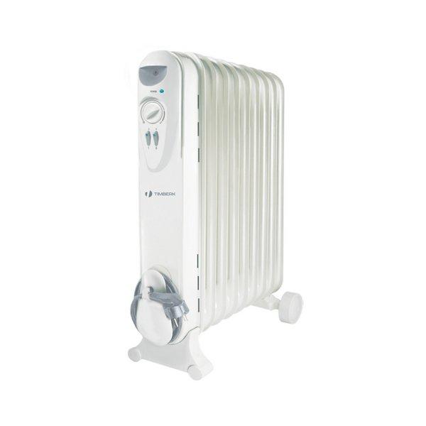 Масляный радиатор Timberk TOR 21.1005 SLX1.0 кВт<br>Эффективно поучаствовать в организации комфортного микроклимата в холодное время года в помещении способен надежный и долговечный масляной радиатор Timberk TOR 21.1005 SLX. Рассматриваемое тепловое устройство характеризуется несравненной энергоэффективностью, а также отличается удивительно компактными размерами и эргономичностью всей конструкции.<br>Особенности и преимущества масляных радиаторов Timberk серии Compact: SLX:<br><br>Компактный ULTRA SLEEM дизайн - ширина секций всего 110 мм<br>Серия включает модели с 5, 7, 9, 11 секциями мощностью от 1000 до 2200 Вт<br>Колесики для перемещения и устройство для намотки сетевого шнура<br>Три ступени мощности нагрева<br>Встроенный регулируемый термостат<br>Технология STEEL SAFETY - исключает проблему утечки масла и гарантирует высочайшую надежность маслонаполненных радиаторов<br><br>Масляные радиаторы Timberk серии Compact: SLX имеют целых три ступени нагрева для создания наиболее комфортного микроклимата на территории обслуживаемых помещений, а также отличаются ультракомпактным современным исполнением. Все представленные в данной серии модели изготовлены из качественных и долговечных материалов, а также отличаются надежным исполнением. <br> <br><br>Страна: Швеция<br>Мощность, Вт: 1000<br>Площадь, м?: 10<br>Колво секций: 5<br>Напряжение, В: 220 В<br>Вес, кг: 4.8<br>Гарантия: 2 года