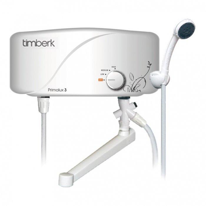 Водонагреватель Timberk WHEL-7 OS PRIMALUX8 кВт<br><br>Электрический водонагреватель проточного типа Timberk WHEL-7 безопасен и экономичен.  Прибор комплектуется надежными и долговечными деталями, что подтверждается увеличенным сроком службы на весь аппарат в целом. Гарантируется высокий уровень безопасной работы на несколько десятков лет. Встроенная колба изготовлена из термопластика особой прочности, и имеется  аварийный датчик автоматического отключения.<br> <br>Основные характеристики представленной модели:<br><br>трубчатый нагревательный элемент;<br>элементарное управление;<br>качественное защитное эмалированное покрытие;<br>высокоточное термоизоляционное запенивание;<br>защита от замерзания;<br>высокий класс защиты IP24;<br>высокая эффективность работы;<br>компактные размеры;<br>высокое качество комплектующих элементов;<br>высокий уровень безопасности;<br>автоматическое отключение при отсутствии воды;<br>плавная регулировка мощности;<br>современный дизайн;<br>минимальное потребление электричества;<br>гарантия качества от производителя;<br>комплектация: душ;<br>соответствие сертификатам ISO 9001, ISO 14000.<br><br> <br>Проточные водонагреватели фирмы Timberk призваны доказать потребителям, что качественная техника не обязательно должна стоить дорого. Более 35 моделей, различных по мощности и комплектации и составляющих предлагаемых компанией 8 серий, несомненно, приятно удивят вас уровнем цен, который поддерживает на продукцию своей марки компания Timberk. Линейка водонагревателей PRIMALUX отличается высокой эффективностью и технологичностью. Кроме того, все приборы данной серии удачно сочетают в себе компактность и современный дизайн, качество и доступную цену.<br><br>Страна: Швеция<br>Производитель: Китай<br>Темп. нагрева, С: 60<br>Способ нагрева: электрический<br>Производительность: 4,5 л/мин.<br>Мощность, кВт: 6,5<br>Защита от перегрева: да<br>LCD дисплей: нет<br>Управление: гидравлическая<br>Тип установки: Горизонтальная<br>Подводка: Нижняя<br>Комплектация