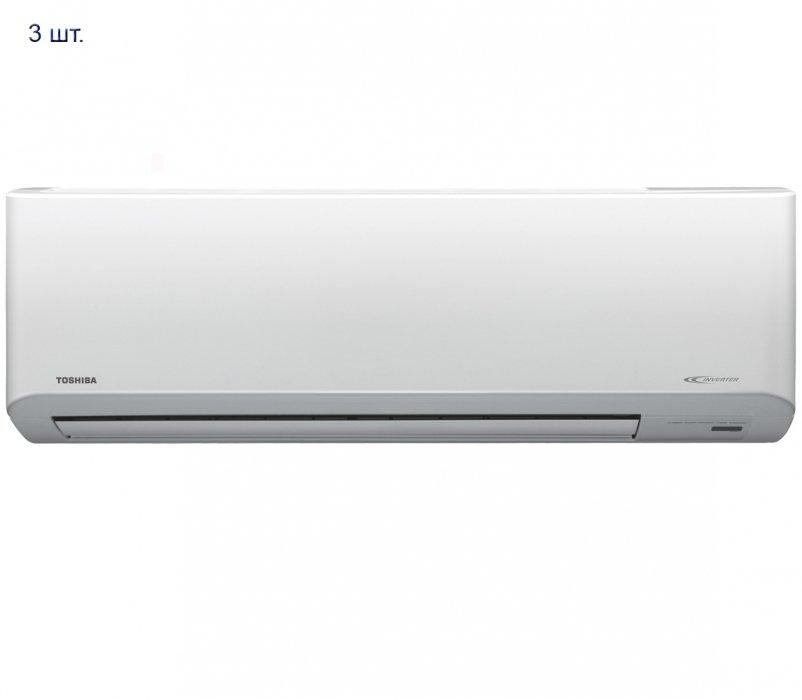 Мульти сплит система на 3 комнаты Toshiba RAS-3M26UAV-E/RAS-B10N3KV2-E*3шт3 комнаты<br>Новинка от Toshiba &amp;ndash; мультизональная система кондиционирования воздуха RAS-3M26UAV-E/RAS-B10N3KV2-Е*3шт, рассчитанная на три комнаты. Внутренний блок устройства отличается элегантным дизайном, компактными размерами и небольшим весом. При потреблении минимального количества электроэнергии кондиционер осуществляет максимально быстрое охлаждение помещения. Система очистки воздуха этого устройства значительно улучшает качество воздуха, подаваемого в помещение.<br>Основные преимущества рассматриваемой модели мульти сплит системы от торговой марки Toshiba:<br><br>Инверторная технология управления мощностью.<br>Стильный эргономичный облик.<br>Предусмотрено пять скоростей вращения вентилятора.<br>Автоматическая скорость вращения вентилятора, дополнительно &amp;ndash; режим максимальной мощности.<br>Максимальная эффективность в работе.<br>Двенадцать возможных положений воздухораспределительных жалюзи.<br>Простая в уходе передняя панель внутреннего блока.<br>Встроенный фильтр Toshiba IAQ очищает воздух от пыли и запахов.<br>Функция самодиагностики и автоматической защиты.<br>Авторестарт: кондиционер автоматически сохраняет параметры и восстанавливает их, когда электроснабжение возобновляется.<br>Низкий уровень шума и, что очень важно, бесшумный режим комфортного сна.<br>Программируемый таймер на сутки.<br>Комплектуется пультом дистанционного управления, оборудованным большим, удобочитаемым дисплеем.<br><br>Всем, кто задумался о приобретении системы кондиционирования воздуха для целого дома, коттеджа или другого строения, предлагаем обратить внимание на готовые комплекты мульти сплит-систем от популярной торговой марки Toshiba. Преимуществом установки такого комплекта является наличие в системе всего одной модели наружного блока, к которому будут подключаться все внутренние. Такое решение сэкономит и пространство наружной стены здания, и время, затрачиваемое на установку системы, и