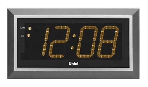 Часы без проекции Uniel BV-11BSL (UTL-11B)Часы без проекции<br>Торговая марка UNIEL представляет новинку: электронные часы BV-11BSL с дистанционным управлением. Несмотря на свои весьма компактные размеры, устройство оснащено большим дисплеем со светодиодной подсветкой, на котором отображается точное местное время. Гаджет имеет удобный будильник с гибкой настройкой и функцией откладывания сигнала. Работают часы от сети 220В/50Гц.<br>Основные преимущества использования рассматриваемой модели настенных часов от торговой марки UNIEL:<br><br>Новинка сезона!<br>Настенные часы с адаптером и пультом управления.<br>Светодиодный дисплей.<br>Часы, будильник с функцией snooze.<br>Кварцевый генератор.<br>Пульт дистанционного управления.<br>Питание: 220В, 50Гц.<br><br>Подбираете настенные часы? Обратите внимание на линейку таких устройств от компании UNIEL. Настенные часы от этого бренда сразу бросаются в глаза своим дизайном: их облик &amp;ndash; это строгая геометрия, которая сочетает в себе эргономичность и неизменный стиль, приправлена нотками минимализма и смягчена приятной светодиодной подсветкой. Модельный ряд серии достаточно широк: здесь покупатели найдут и устройства, которые показывают только время, и гаджеты с дополнительным функционалом, таким как индикация температуры внутри помещения.<br><br>Страна: Китай<br>Питание, В: 220 В<br>Тип батарейки: None<br>Колво батареек: None<br>Адаптер к 220В: Есть<br>С будильником: Да<br>Радиодатчик: None<br>С метеостанцией: None<br>В помещении t, С: Нет<br>За окном t, С: Нет<br>Влажность в помещении: Нет<br>Влажность за окном: Нет<br>Давление: Нет<br>Прогноз погоды: Нет<br>Габариты, мм: 430x230x33<br>Вес, кг: 1<br>Гарантия: 1 год<br>Ширина мм: 230<br>Высота мм: 430<br>Глубина мм: 33