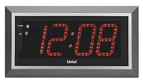 Проекционные часы Uniel BV-11RSL (UTL-11R)Часы без проекции<br>Подбираете настенные часы? Обратите внимание на модель BV-11RSL   новинку от компании UNIEL. Устройство представляет собой современный гаджет: здесь не только индикация времени, но есть также и будильник с возможностью отложить сигнал, и пульт для удобного дистанционного управления, и даже кварцевый генератор. Подсветка   красная, прекрасно гармонирует с черно-серым цветовым решением. Работает устройство от электросети 220В, а адаптер предусмотрен в комплекте поставки.<br>Основные преимущества использования рассматриваемой модели настенных часов от торговой марки UNIEL:<br><br>Новинка сезона!<br>Настенные часы с адаптером и пультом управления.<br>Светодиодный дисплей.<br>Часы, будильник с функцией snooze.<br>Кварцевый генератор.<br>Пульт дистанционного управления.<br>Питание: 220В, 50Гц.<br><br>Подбираете настенные часы? Обратите внимание на линейку таких устройств от компании UNIEL. Настенные часы от этого бренда сразу бросаются в глаза своим дизайном: их облик   это строгая геометрия, которая сочетает в себе эргономичность и неизменный стиль, приправлена нотками минимализма и смягчена приятной светодиодной подсветкой. Модельный ряд серии достаточно широк: здесь покупатели найдут и устройства, которые показывают только время, и гаджеты с дополнительным функционалом, таким как индикация температуры внутри помещения.<br><br>Страна: Китай<br>Питание, В: 220 В<br>Тип батарейки: None<br>Колво батареек: None<br>Адаптер к 220В: Есть<br>С будильником: Да<br>Радиодатчик: None<br>С метеостанцией: None<br>В помещении t, С: Нет<br>За окном t, С: Нет<br>Влажность в помещении: Нет<br>Влажность за окном: Нет<br>Давление: Нет<br>Прогноз погоды: Нет<br>Габариты, мм: 430x230x33<br>Вес, кг: 1<br>Гарантия: 1 год<br>Ширина мм: 230<br>Высота мм: 430<br>Глубина мм: 33