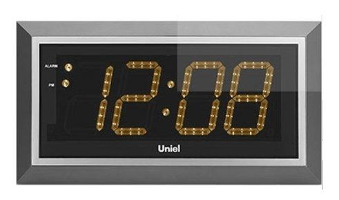 Часы без проекции Uniel BV-11YSL (UTL-11Y)Часы без проекции<br>BV-11YSL   это настенные электронные часы со светодиодной подсветкой. Устройство разработано компанией UNIEL, которая, стремясь сделать свои гаджеты максимально удобными, оснастила его дистанционным управлением, кварцевым генератором и будильником с такой полезной функцией, как  Snooze . Дизайн модели также заслуживает внимания: прямоугольный корпус цвета серой стали гармонирует с черным фоном дисплея, а желтый цвет подсветки приятно смягчает явно прослеживаемые черты минимализма.<br>Основные преимущества использования рассматриваемой модели настенных часов от торговой марки UNIEL:<br><br>Новинка сезона!<br>Настенные часы с адаптером и пультом управления.<br>Светодиодный дисплей.<br>Часы, будильник с функцией snooze.<br>Кварцевый генератор.<br>Пульт дистанционного управления.<br>Питание: 220В, 50Гц.<br><br>Подбираете настенные часы? Обратите внимание на линейку таких устройств от компании UNIEL. Настенные часы от этого бренда сразу бросаются в глаза своим дизайном: их облик   это строгая геометрия, которая сочетает в себе эргономичность и неизменный стиль, приправлена нотками минимализма и смягчена приятной светодиодной подсветкой. Модельный ряд серии достаточно широк: здесь покупатели найдут и устройства, которые показывают только время, и гаджеты с дополнительным функционалом, таким как индикация температуры внутри помещения.<br><br>Страна: Китай<br>Питание, В: 220 В<br>Тип батарейки: None<br>Колво батареек: None<br>Адаптер к 220В: Есть<br>С будильником: Да<br>Радиодатчик: None<br>С метеостанцией: None<br>В помещении t, С: Нет<br>За окном t, С: Нет<br>Влажность в помещении: Нет<br>Влажность за окном: Нет<br>Давление: Нет<br>Прогноз погоды: Нет<br>Габариты, мм: 430x230x33<br>Вес, кг: 1<br>Гарантия: 1 год<br>Ширина мм: 230<br>Высота мм: 430<br>Глубина мм: 33