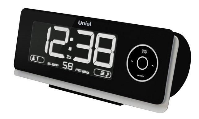 Часы с синей проекцией Uniel UTP-43Красная проекция<br>Торговая марка UNIEL представляет многофункциональные &amp;nbsp;настольные часы UTP-43. Это часы с проектором на потолок или на стену, радиоприемником и будильником в компактном стильном корпусе. Электронные часы с проекцией могут запоминать до пяти радиостанций; имеют возможность отложить сигнал будильника. Всю информацию аксессуар выводит на жидкокристаллический дисплей, яркость которого может быть отрегулирована.<br><br>Страна: Китай<br>Питание, В: Сеть/Бат.<br>Тип батарейки: AAA<br>Колво батареек: 3<br>Адаптер к 220В: Есть<br>С будильником: Да<br>Радиодатчик: Да<br>С метеостанцией: None<br>В помещении t, С: Нет<br>За окном t, С: Нет<br>Влажность в помещении: Нет<br>Влажность за окном: Нет<br>Давление: Нет<br>Прогноз погоды: Нет<br>Габариты, мм: 188x80x65<br>Вес, кг: 1<br>Гарантия: 1 год<br>Ширина мм: 80<br>Высота мм: 188<br>Глубина мм: 65