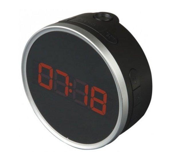 Проекционные часы Uniel UTP-49YKxКрасная проекция<br>Электронные часы с проекцией UTP-49YKx от торговой марки UNIEL. Гаджет располагает широким функционалом: это проекция времени на потолок; часы с будильником с возможностью отложить сигнал на время от пяти минут до одного часа; радиоприемник, запоминающий до десяти радиостанций, проекция на стену. Кроме того, пользователь может отрегулировать яркость подсветки дисплея, выбрать мелодия для звонка будильника или использовать в этом качестве радио.<br><br>Страна: Китай<br>Питание, В: Сеть/Бат.<br>Тип батарейки: СR2032<br>Колво батареек: 1<br>Адаптер к 220В: Есть<br>С будильником: Да<br>Радиодатчик: Да<br>С метеостанцией: None<br>В помещении t, С: Нет<br>За окном t, С: Нет<br>Влажность в помещении: Нет<br>Влажность за окном: Нет<br>Давление: Нет<br>Прогноз погоды: Нет<br>Габариты, мм: 110х110х55<br>Вес, кг: 1<br>Гарантия: 1 год<br>Ширина мм: 110<br>Высота мм: 110<br>Глубина мм: 55