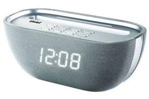 Часы без проекции Uniel UTR-25WSUЧасы без проекции<br>Стильные настольные часы UTR-25WSU от компании UNIEL прежде всего запоминаются дизайном: перевернутая трапеция со скругленными углами и глянцевой серебристой поверхностью станет отличным аксессуаром для декора интерьерной композиции. Функционал гаджета тоже не оставляет равнодушным: здесь не только часы с радиобудильником, но еще и стереодинамики, и стандартный вход для наушников, и даже USB-порт для подключения флеш-накопителей, с которых пользователь может выбрать сигнал для будильника.<br>Основные преимущества использования рассматриваемой модели электронных часов с радио от торговой марки UNIEL:<br><br>Стильный эргономичный дизайн.<br>Компактные размеры конструкции.<br>Радиобудильник.<br>Часы (23 мм цифры).<br>Регулировка яркости дисплея.<br>30 уровней регулировки звука.<br>Высококачественный стереодинамик.<br>1 USB порт.<br>Линейный вход для наушников.<br>Высокое качество и комфорт в управлении.<br><br>Торговая марка UNIEL   это прекрасно себя зарекомендовавший, надежный партнер и поставщик качественного оборудования. Компания разработала семейство современных удобных часов, оснащенных радиоприемником. Помимо индикатора точного времени эти гаджеты оборудованы будильниками, которые могут в качестве звукового сигнала использовать любую радиостанцию. Более того, практически все модели имеют память на несколько радиостанций. Также стоит отметить, что устройства выполнены в стильном современном дизайне, который сможет органично вписаться в интерьерное решение и гостиной, и спальни.<br><br>Страна: Китай<br>Питание, В: Сеть/Бат.<br>Тип батарейки: ААА<br>Колво батареек: 3<br>Адаптер к 220В: Есть<br>С будильником: Да<br>Радиодатчик: Да<br>С метеостанцией: None<br>В помещении t, С: Нет<br>За окном t, С: Нет<br>Влажность в помещении: Нет<br>Влажность за окном: Нет<br>Давление: Нет<br>Прогноз погоды: Нет<br>Габариты, мм: 210x110x97<br>Вес, кг: 1<br>Гарантия: 1 год<br>Ширина мм: 110<br>Высота мм: 210<br>Глубина мм: 97