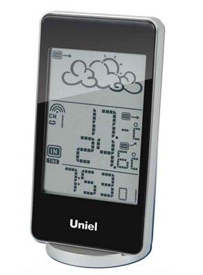 Часы без проекции Uniel UTV-82KЧасы без проекции<br>Функциональная и стильная настольная метеостанция в компактном плоском корпусе UTV-82K &amp;ndash; это еще одна разработка торговой марки UNIEL. Жидкокристаллический дисплей устройства показывает прогноз погоды в виде анимации, также отображает температуру и на улице, и в комнате, уровень влажности, местное время в формате 12/24. Помимо этого, гаджет оснащен будильником с тремя вариантами программирования.<br>Основные преимущества использования рассматриваемой модели домашней метеостанции от торговой марки UNIEL:<br><br>Стильный эргономичный дизайн.<br>Компактные размеры конструкции.<br>Метеостанция с беспроводным датчиком.<br>Анимированный прогноз погоды.<br>Измерение влажности.<br>Измерение комнатной и внешней температуры (до -50 град).<br>Часы с форматом времени 12/24.<br>3 варианта программирования будильника.<br>Календарь.<br>Питание 2*ААА, питание датчика 2*ААА. &amp;nbsp;<br>Высокое качество и комфорт в управлении.<br><br>Бренд UNIEL &amp;ndash; поставщик качественного и надежного оборудования &amp;ndash; разработал семейство настольных метеостанций в компактном корпусе. Эти гаджеты станут прекрасным выбором для метеозависимых людей: устройства не просто показывают температуру за окном, а могут прогнозировать погоду, информировать об уровне относительной влажности и даже атмосферном давлении, возможном гололеде и зоне комфортности. Все модели оснащены большими дисплеями, а многие из них еще и анимацией. Также стоит отметить, что все метеостанции имеют индикатор точного времени и будильник.<br><br>Страна: Китай<br>Питание, В: Батарейки<br>Тип батарейки: AAA<br>Колво батареек: 2<br>Адаптер к 220В: Нет<br>С будильником: Да<br>Радиодатчик: None<br>С метеостанцией: Да<br>В помещении t, С: Да<br>За окном t, С: Да<br>Влажность в помещении: Да<br>Влажность за окном: Нет<br>Давление: Нет<br>Прогноз погоды: Да<br>Габариты, мм: 70x30x16,5<br>Вес, кг: 1<br>Гарантия: 1 год<br>Ширина мм: 30<br>Высота мм: 70<br>Глубина мм: