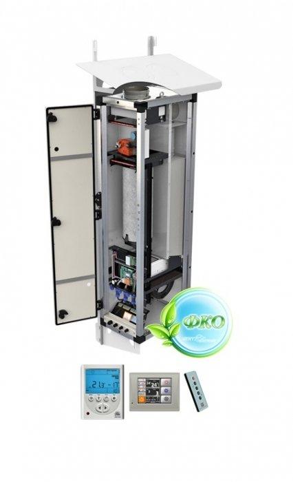 Приточная вентиляционная установка Vent Machine ПВУ – 350 EC GTC500 м?/ч<br> <br>  Приточная установка ПВУ   350 GTC создана при использовании новейших технологий для бесшумной вентиляции, как отдельно взятых помещений, так и квартир и офисов, в целом. Данная модель изготовлена на основе ПВУ   350, при этом имеет ряд отличительных особенностей.  В отличие от предыдущей модели, данный аппарат снабжен цветным сенсорным дисплеем, размером3,5 дюймаи разрешением 320x240 пикселей. Так же не маловажным отличием является и наличие русскоязычного интерфейса. Еще одним преимуществом является индикация графика изменения температур в процессе работы установки. Данная модель оснащена функцией Северный старт, которая заключается в  последовательном увеличении скорости вентилятора, от первой до заданной, при включении установки. Такая функция особенно актуальна при низких температурах входящего воздуха.<br> <br>Основные характеристики модели:<br> <br><br>Компактные размеры (учитывая максимальную комплектацию)<br>Встроенный шумоглушитель, делающий установку почти беззвучной<br>Интеллектуальная система управления<br>Автоматическая система регулирования заданной температуры<br>Регулировка количества подаваемого воздуха<br>Система контроля загрязненности фильтра<br>Пожаробезопасный полупроводниковый керамический нагреватель<br>Встроенный воздушный клапан, оснащенный электроприводом с возвратной пружиной. Принудительно закрывает клапан в случае отключения электропитания.<br>Угольно-фотокаталитический фильтр глубокой очистки воздуха<br>Многофункциональный пульт управления:<br>ZENTEC с ЖК-дисплеем<br>GTC с сенсорным цветным дисплеем<br>Класс защиты, позволяющий размещать установку за пределами помещения (на улице, под воздействием окружающей среды)<br>Недельный таймер с ежедневной уникальной настройкой<br>Функция Северный старт<br>Упрощенная система обслуживания<br>Монтаж, не нарушающий отделку помещения<br>Возможность вентиляции нескольких помещений Возможность монтажа на вентилируемом 