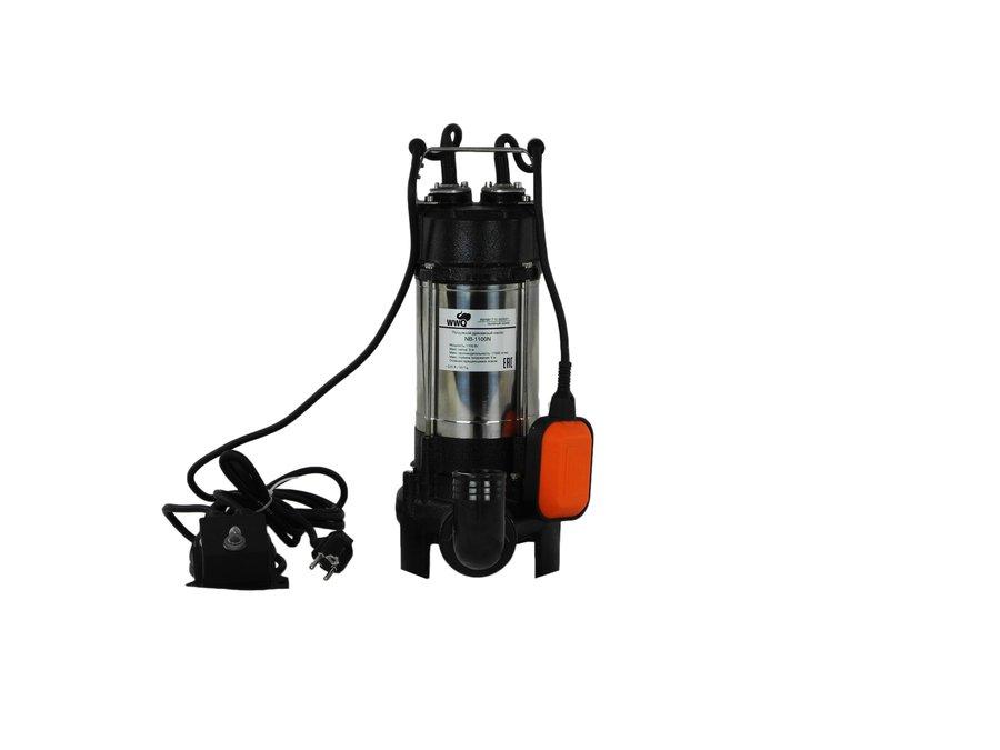 Фекальный насос WWQ NB-1100N265 л/мин<br>WWQ NB-1100N является насосом, способным в незначительные сроки отвести значительный объем воды. Малогабаритный прибор обладает мощностью в 1100 Вт и может эксплуатироваться довольно долго благодаря стальному лопастному механизму. Агрегат осушает затопленные участки и очищает подвальные помещения от грунтовых вод с производительностью 17000 л/час.<br>Особенности и преимущества:<br><br>Служат для перекачивания сильно загрязненных дренажных, дождевых, грунтовых вод из шахт, котлованов, затопленных подвалов и т.д.<br>Насосы снабжены поплавковым выключателем и встроенной термозащитой.<br>Материал рабочего колеса: чугун.<br><br>Модификации:<br>1. NB   дренажный насос без измельчителя.<br>2. NB GM   дренажный насос с измельчающим механизмом.<br>3. NB N   дренажный насос с вращающимся ножом.<br>Дренажно-канализационные насосы WWQ серии NB способны очистить подвалы, регулируя уровень воды. Не смотря на то, что потребление энергии минимизировано, приборы обладают усиленной продуктивностью. Даже на глубоких участках насосы могут отчищать как скважины, так и колодцы. Оснащенные усиленным корпусом агрегаты, эксплуатируются даже в сильно загрязненной воде.<br><br>Страна: Россия<br>Производитель: Китай<br>Качество воды: Грязная<br>Производ. л/мин: 283<br>Max напор, м: 8<br>диаметр пропускаемых частиц, мм: None<br>Max глубина погружения, м: 5<br>Мощность, Вт: 1100<br>Напряжение сети, В: 220 В<br>Длина кабеля, м: None<br>Реле сух. хода: Нет<br>Материал корпуса: Чугун<br>Min. диаметр выхода, : 2<br>Max темп. жидкости, С: None<br>Класс защиты: IPX8<br>Габариты ВхШхГ, см: None<br>Вес, кг: 16<br>Гарантия: 1 год