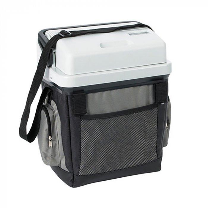 Термоэлектрический Waeco-Dometic BordBar AS-2521-30 литров<br>Автохолодильник термоэлектрического типа WAECO (Ваеко) BordBar AS-25 представляет собой удобный аксессуар, который станет отличным спутником в поездках. Представленная модель оснащена тканевым кожухом с несколькими карманами и имеет удобный плечевой ремень для переноски. Устройство обладает  такой полезной функцией, как автоматическое переключение переменного/постоянного тока в режиме питания и от сети, и от прикуривателя.<br>Особенности и преимущества представленной модели термоэлектрического холодильника от компании WAECO:<br><br>До температуры на 18 C ниже температуры окружающего воздуха.<br>12/230 В.<br>Класс потребления энергии A++.<br>Фиксаторы Velcro для прочного крепления в автомобиле.<br>Функция автоматического переключения пост./пер. ток (12/230 В) в режимах питания от прикуривателя и от сети.<br>Два кармана на молниях, один сетчатый карман, одно отделение для кабеля.<br><br>Торговая марка WAECO разработала линейку недорогих и очень удобных холодильников для автомобилей. Это термоэлектрические модели, универсальные, компактные, легкие и прочные. Устройства обладают множеством преимуществ перед автохолодильниками других типов, однако самое главное - это возможность работы не только в режиме охлаждения, но и на подогрев. С такими агрегатами в пути у вас всегда будет полноценный обед, свежие продукты и охлажденные напитки!<br><br>Страна: Германия<br>Объем, л: 24<br>Мощность, Вт: 36,0<br>Питание, В: 12/220<br>Max температура, C: None<br>Min температура, C: None<br>Функция подогрева: None<br>Дельта t, C: 18<br>Кабель питания: Есть<br>Назначение: Автохолодильник<br>ГабаритыВШД,мм: 420x420x300<br>Вес, кг: 4<br>Гарантия: 2 года