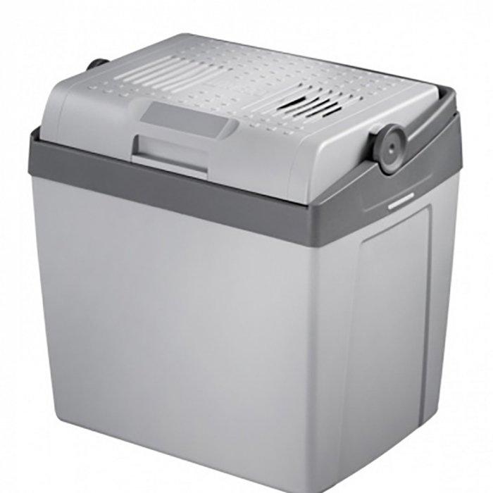 Термоэлектрический автохолодильник Waeco-Dometic CoolFun SC26DC21-30 литров<br>Компактный переносной холодильник Waeco (Ваеко) CoolFun SC26DC сможет обеспечить охлаждение продуктов и напитков на 18 градусов ниже температуры наружного воздуха. Благодаря этому такой прибор станет прекрасным спутником на пикниках и в длительных поездках. Более того, автохолодильник может использоваться и в офисах, в больницах, гостиницах &amp;ndash; в любой сфере, где необходимо сохранить свежесть продуктов.<br>Особенности и преимущества термоэлектрического автомобильного холодильника Waeco представленной модели:<br><br>Холодильник предназначен для охлаждения продуктов питания.<br>Прибор может быть подключен через прикуриватель к 12 В пост. тока.<br>Холодильник предназначен для бытового использования и аналогичных областей применения, как, например: на кухнях, в магазинах, офисах и других рабочих зонах, в сельском хозяйстве, для гостей гостиниц, мотелей и т. п., в пансионах, предлагающих завтраки, при кейтеринге и подобных организациях питания.<br>Прибор подходит также для применения в кемпингах, автомобилях, автодомах, микроавтобусах.<br>Холодильник подходит для мобильного использования. Он может охлаждать продукты до температуры макс. 18 &amp;deg;C ниже температуры окружающей среды и поддерживать их в охлажденном состоянии.<br>Охлаждение обеспечивается неизнашиваемыми элементами Пельтье, а отвод тепла обеспечивается вентилятором.<br>Вы можете использовать USB-порт для зарядки небольших приборов, например, мобильных телефонов или MP3-плееров. Использование USB-порта не влияет на холодопроизводительность.<br>Система &amp;mdash; термоэлектрика (элемент Пельтье)<br>Отсутствие фреона<br>Простота использования<br>Эргономичная конструкция<br>Охлаждение и подогрев<br>Большой ресурс работы<br>Качественные комплектующие<br>Плотная термоизоляция<br>Незатруднительная транспортировка<br>Оптимальная вместительность<br><br>Термоэлектрические холодильники Waeco не используют доя работы фреон, а знач