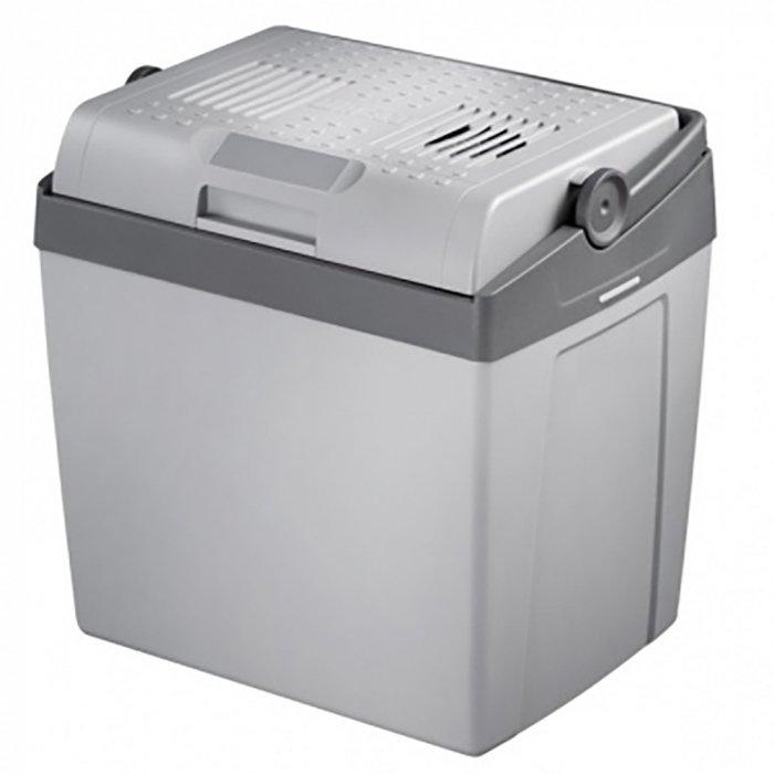Автомобильный термоэлектрический холодильник  Waeco-Dometic Coolfun SCT26 DC/DC21-30 литров<br>Waeco (Ваеко) Coolfun SCT26 DC/DC   это небольшая, но достаточно вместительная модель автомобильного холодильника, который использует термоэлектрический принцип для работы. Представленный агрегат обеспечивает не конкретный температурный режим внутри камеры: степень охлаждения имеет прямую зависимость от температуры окружающей среды.<br>Особенности и преимущества термоэлектрического автомобильного холодильника Waeco представленной модели:<br><br>Холодильник предназначен для охлаждения продуктов питания.<br>Прибор может быть подключен через прикуриватель к 12 или 24 В пост. тока.<br>Холодильник предназначен для бытового использования и аналогичных областей применения, как, например: на кухнях, в магазинах, офисах и других рабочих зонах, в сельском хозяйстве, для гостей гостиниц, мотелей и т. п., в пансионах, предлагающих завтраки, при кейтеринге и подобных организациях питания.<br>Прибор подходит также для применения в кемпингах, автомобилях, автодомах, микроавтобусах.<br>Холодильник подходит для мобильного использования. Он может охлаждать продукты до температуры макс. 18  C ниже температуры окружающей среды и поддерживать их в охлажденном состоянии.<br>Охлаждение обеспечивается неизнашиваемыми элементами Пельтье, а отвод тепла обеспечивается вентилятором.<br>Вы можете использовать USB-порт для зарядки небольших приборов, например, мобильных телефонов или MP3-плееров. Использование USB-порта не влияет на холодопроизводительность.<br>Система   термоэлектрика (элемент Пельтье)<br>Отсутствие фреона<br>Простота использования<br>Эргономичная конструкция<br>Охлаждение и подогрев<br>Большой ресурс работы<br>Качественные комплектующие<br>Плотная термоизоляция<br>Незатруднительная транспортировка<br>Оптимальная вместительность<br><br>Термоэлектрические холодильники Waeco не используют доя работы фреон, а значит не оказывают негативного воздействия на окружающую среду, поскольку их п