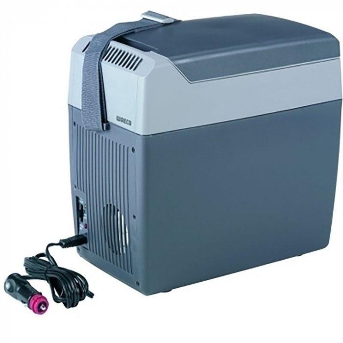 Автохолодильник термоэлектрический Waeco-Dometic TropiCool TC-07до 10 литров<br> <br>Автомобильный  термоэлектрический  холодильник Waeco TropiCool TC-07 предназначен для эксплуатации на отдыхе, в походах или путешествиях. Каждая модель изготавливается из высококачественного пластика. Оборудование можно устанавливать в автомобиле или носить на плече во время пешего похода.<br><br>Преимущества и технические характеристики автохолодильника модели Waeco TropiCool TC-07:<br>- используемый объем:  7 литров;<br>- быстрое и эффективное изготовление льда;<br>- автоматическое поддержание требуемой температуры;<br>- производителем предусмотрена инструкция на русском языке;<br>- в комплекте поставляются шнуры 12В и  220В;<br>- жесткая и надежная конструкция;<br>- широкий диапазон мощностей;<br>- компактность и современный дизайн.<br> <br>В настоящее время приобретение автохолодильника Waeco TropiCool TC-07 является не роскошью, а необходимостью: данный тип оборудования незаменим на отдыхе и в дальних поездках для транспортировки скоропортящихся продуктов. Автомобильные холодильники от компании Waeco эффективно работают в любое время года, практичны и удобны в эксплуатации, а также отличаются прочностью и долговечностью.<br><br>Страна: Германия<br>Объем, л: 7<br>Мощность, Вт: 36<br>Питание, В: 12/220<br>Max температура, C: +65<br>Min температура, C: 25<br>Кабель питания: Есть<br>Назначение: Сумкахолодильник<br>ГабаритыВШД,мм: 278x190x333<br>Вес, кг: 2.8<br>Гарантия: 2 года
