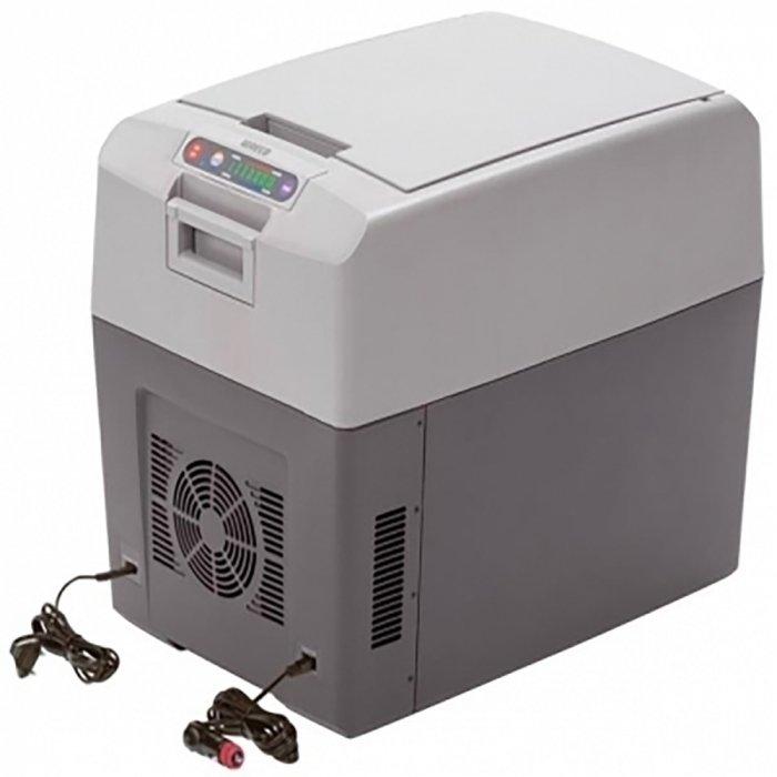 Термоэлектрический автохолодильник Waeco-Dometic TropiCool TC-35FL31-40 литров<br> <br>Автомобильный  термоэлектрический  холодильник Waeco TropiCool TC-35FL предназначен для эксплуатации на отдыхе, в походах или путешествиях. Каждая модель изготавливается из высококачественного пластика. Функционирование осуществляется при помощи термоэлектрической панели.<br>Преимущества и технические характеристики автохолодильника модели Waeco TropiCool TC-35FL:<br>- используемый объем:  35 литров;<br>- быстрое и эффективное изготовление льда;<br>- автоматическое поддержание требуемой температуры;<br>- производителем предусмотрена инструкция на русском языке;<br>- в комплекте поставляются шнуры 12В и  220В;<br>- жесткая и надежная конструкция;<br>- широкий диапазон мощностей;<br>- компактность и современный дизайн.<br> <br>В настоящее время приобретение автохолодильника Waeco TropiCool TC-35FL является не роскошью, а необходимостью: данный тип оборудования незаменим на отдыхе и в дальних поездках для транспортировки скоропортящихся продуктов. Автомобильные холодильники от компании Waeco эффективно работают в любое время года, практичны и удобны в эксплуатации, а также отличаются прочностью и долговечностью.<br><br>Страна: Германия<br>Объем, л: 35<br>Мощность, Вт: 65<br>Питание, В: 12/24/220<br>Max температура, C: +65<br>Min температура, C: 30<br>Кабель питания: Есть<br>Назначение: Холодильник автомобильный<br>ГабаритыВШД,мм: 460x376x550<br>Вес, кг: 10<br>Гарантия: 2 года