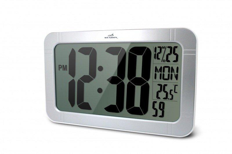 Часы без проекции Wendox WA183-SЧасы без проекции<br>Представленная модель WA183-S &amp;ndash; это современные цифровые часы с большими цифрами для настенной установки. Данная модель это строго функциональное электронное устройство, которое выполняет две функции: часов с календарем и термометра для окружающего воздуха. Часы с функцией термометра от Wendox имеют простой дизайн, большие цифры часов хорошо видны с любого расстояния.<br>Основные возможности электронных часов Wendox WA183-S:<br><br>Электронные часы с возможность измерения температуры окружающего воздуха;<br>Стильный современный дизайн;<br>Большой дисплей &amp;ndash; размер 190 х 105 мм;<br>Высота цифр часов 95 мм;<br>Часы измеряют температуру внутри помещения, и выводят показания в градусах Цельсия или градусах Фаренгейта;<br>Предел измерения температуры составляет +50 С;<br>Формат времени можно изменять;<br>Клавиши для настройки находятся на задней панели прибора;<br>Календарь с отображением даты, дня недели;<br>Часы-термометр работают от обычных батареек;<br>Часы предназначены для настенной установки, но быть установлены и на любую горизонтальную поверхность.<br><br><br>Страна: Великобритания<br>Питание, В: Батарейки<br>Тип батарейки: АА<br>Колво батареек: 2<br>Адаптер к 220В: Нет<br>С будильником: Да<br>Радиодатчик: None<br>С метеостанцией: None<br>В помещении t, С: Да<br>За окном t, С: Нет<br>Влажность в помещении: Нет<br>Влажность за окном: Нет<br>Давление: Нет<br>Прогноз погоды: Нет<br>Габариты, мм: 155х40х250<br>Вес, кг: 1<br>Гарантия: 1 год<br>Ширина мм: 40<br>Высота мм: 155<br>Глубина мм: 250
