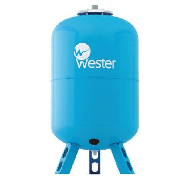 Расширительный бак Wester WAV 300 (top)300 литров<br>Wester WAV 300 (top)   это современная модель расширительной емкости c заменяемой мембранной из резины, которая используется для поддержания в системе рабочего давления, что поможет избежать весьма разрушительных последствий в следствии гидравлического удара. Модель отличается надежным исполнением из качественно материала   высокопрочной стали, что гарантирует длительный срок службы.<br>Особенности и преимущества мембранных баков Wester серии WAV:<br><br>Мембранные баки рассчитаны на рабочую температуру от +1  С до +100  С;<br>Баки сделаны из прочной высококачественной стали и по всей конструкции рассчитаны на многолетнюю эксплуатацию;<br>Внешняя сторона бака имеет эпоксиполиэфирное покрытие;<br>Мембрана заменяемая, сделана из специальной резины   EPDM;<br>Баки снабжены штуцером G для присоединения к системе водоснабжения, воздушным ниппелем для настройки давления в воздушной полости.<br><br>Гидроаккумуляторы WAV от бренда Wester защитят систему водоснабжения от гидроударов, а также позволят поддержать постоянное давление. Использование таких мембранных буферов позволяет повысить срок службы насосов, так как уменьшает количество их включений и выключений. Все баки линейки снабжены сменными мембранами, имеют штуцер для подключение к системе, а также ниппель, который позволяет регулировать давление внутри воздушной полости. <br><br>Страна: Россия<br>Производитель: Россия<br>Объем, л: 300<br>Max рабочая температура, С: 100<br>Давление, бар: 1,5<br>Max рабочее давление, бар: 10<br>Покрытие бака: Без покрытия<br>Присоединительный диаметр, мм: 1 1/4<br>Габариты ВхШхГ, мм: 1170x660x660<br>Вес, кг: 41<br>Гарантия: 1 год<br>Ширина мм: 660<br>Высота мм: 1170<br>Глубина мм: 660