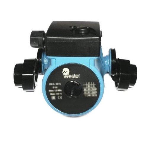 Циркуляционный насос Wester WCP 25-60GНасосы для отопления<br>Современный и производительный насос  Wester WCP 25-60G предназначен для создания циркуляции воды в замкнутом пространстве. Сферой применения насоса являются различные отопительные системы. Двигатель оборудования обеспечивает трехступенчатое регулирование скорости. Во избежание поломки прибора рекомендуется использование только чистой воды.<br>Особенности и преимущества:<br><br>Конструктивное исполнение с  мокрым  ротором.<br>Монтируются непосредственно в линию.<br>Корпус насосов изготовлен из чугуна, рабочее колесо   из полимерных материалов.<br>Три скорости работы (трехпозиционное ступенчатое регулирование), выбираемые ручным переключением вращающейся ручки на клеммной коробке.<br><br>Предназначены для применения:<br><br>в отопительных системах,<br>промышленных установках для:<br><br>однотрубных систем;<br>двухтрубных систем;<br>систем отопления, размещенных под котлом;<br>контура отопления котла.<br><br><br><br>Циркуляционные насосы от бренда Wester   это современное оборудование, выполненное в прочном чугунном корпусе. Модельный ряд представлен широкий разнообразием, от малопроизводительных до мощных устройств. Насосы предназначены для работы с чистой жидкой среды, исполнены с мокрым ротором и могут монтироваться в любом положении. Это долговечное и надежное оборудование, которое безукоризненно прослужит долгие годы.<br><br>Страна: Великобритания<br>Производитель: Китай<br>Производ. л/мин: 45<br>диаметр подключ., d: 1<br>Монтажная длина, мм: 180<br>Мощность, Вт: 93<br>Напряжение сети, В: 220 В<br>Раб. давление, бар: 10<br>Режим работы: Нет<br>Max темп. жидкости, С: 110<br>Класс защиты: IP44<br>Тип рабочей жидкости: Чистая<br>Материал корпуса: Чугун<br>Тип ротора: Мокрый<br>Установка насоса: Универсальная<br>Габариты ВхШхГ, см: 18x10,4x24<br>Вес, кг: 4<br>Гарантия: 3 года<br>Ширина мм: 104<br>Высота мм: 180<br>Глубина мм: 240