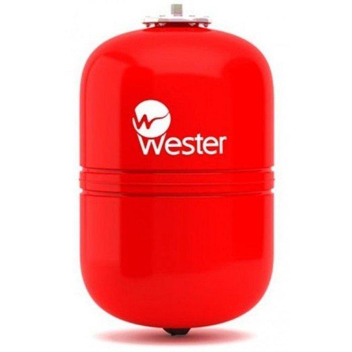 Расширительный бак Wester WRV 100100 литров<br>Для решения вопроса увеличения объемов теплоносителя в системе отопления при изменении температуры необходимо использовать специальное оборудование, например, расширительный бак с заменяемой мембранной Wester WRV 100. Представленная модель имеет вертикальное исполнение и цилиндрическую конструкцию, изготовлена из стали высокого качества и соответствует требованиям безопасности.<br>Особенности и преимущества мембранных баков Wester серии WRV:<br><br>Баки сделаны из прочной высококачественной стали и по всей конструкции рассчитаны на многолетнюю эксплуатацию;<br>Внешняя сторона бака имеет эпоксиполиэфирное покрытие;<br>Мембрана заменяемая, сделана из специальной резины   EPDM;<br>Баки снабжены штуцером G для присоединения к системе отопления, воздушным ниппелем для настройки давления в воздушной полости;<br>Баки от 200л имеют дополнительный штуцер нар.-вн. 3/4х 1/2;<br>Модели WRV50-150 выполнены на опорах, модели WRV200-500 top выполнены на стойках.<br><br>WRV   это мембранные баки, основная задача которых заключается в компенсации расширения теплоносителя в результате подогрева. Сфера использования баков   замкнутые системы. Комплектация устройств предусматривает наличие штуцера для подключения к отопительной системе, а также воздушный ниппель, с помощью которого настраивается давление в воздушной полости, образовываемой мембраной. Модельный ряд представлен широкий разнообразие емкостей, вместительностью от восьми литров до десяти тонн. Модели от двухсот литров укомплектованы дополнительным штуцером для подключения датчиков. <br><br>Страна: Россия<br>Производитель: Россия<br>Объем, л: 100<br>Рабочая темп. С: 100<br>Давление, бар: 1,5<br>Max рабочее давление, бар: 5<br>Покрытие бака: Без покрытия<br>Присоединительный диаметр, мм: 1<br>Габариты ВхШхГ, мм: 680x495x495<br>Вес, кг: 14<br>Гарантия: 1 год<br>Ширина мм: 495<br>Высота мм: 680<br>Глубина мм: 495