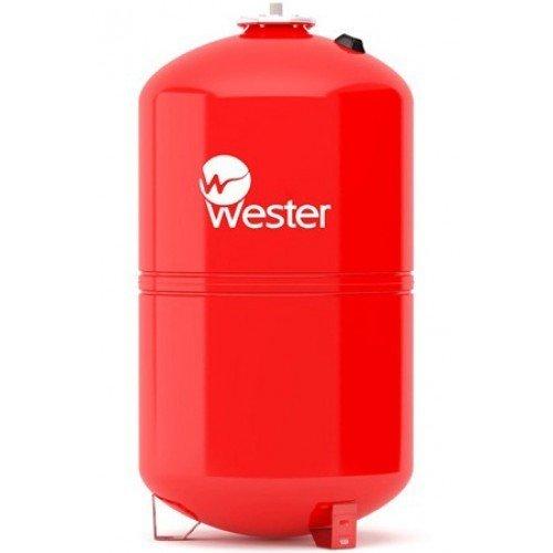 Расширительный бак Wester WRV 150150 литров<br>Идеальным решением вопроса компенсации объемов теплоносителя в системах закрытого отопления при изменении температурных показателей может стать расширительный бак от надежной и достойной производственной компании Wester WRV 150, которая заботится о нуждах и безопасности своих потребителей. Рассматриваемая модель имеет вертикальное исполнение и представляет собой емкость с мембранной. <br>Особенности и преимущества мембранных баков Wester серии WRV:<br><br>Баки сделаны из прочной высококачественной стали и по всей конструкции рассчитаны на многолетнюю эксплуатацию;<br>Внешняя сторона бака имеет эпоксиполиэфирное покрытие;<br>Мембрана заменяемая, сделана из специальной резины   EPDM;<br>Баки снабжены штуцером G для присоединения к системе отопления, воздушным ниппелем для настройки давления в воздушной полости;<br>Баки от 200л имеют дополнительный штуцер нар.-вн. 3/4х 1/2;<br>Модели WRV50-150 выполнены на опорах, модели WRV200-500 top выполнены на стойках.<br><br>WRV   это мембранные баки, основная задача которых заключается в компенсации расширения теплоносителя в результате подогрева. Сфера использования баков   замкнутые системы. Комплектация устройств предусматривает наличие штуцера для подключения к отопительной системе, а также воздушный ниппель, с помощью которого настраивается давление в воздушной полости, образовываемой мембраной. Модельный ряд представлен широкий разнообразие емкостей, вместительностью от восьми литров до десяти тонн. Модели от двухсот литров укомплектованы дополнительным штуцером для подключения датчиков. <br><br>Страна: Россия<br>Производитель: Россия<br>Объем, л: 150<br>Рабочая темп. С: 100<br>Давление, бар: 1,5<br>Max рабочее давление, бар: 5<br>Покрытие бака: Без покрытия<br>Присоединительный диаметр, мм: 1<br>Габариты ВхШхГ, мм: 960x495x495<br>Вес, кг: 18<br>Гарантия: 1 год<br>Ширина мм: 495<br>Высота мм: 960<br>Глубина мм: 495