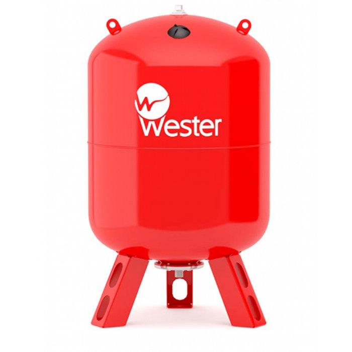 Расширительный бак Wester WRV 200 (top)200 литров<br>Рассчитанный на многолетнюю эксплуатацию мембранный бак Wester WRV 200 (top) был разработан надежным производителем из прочных и долговечных материалов   стали высочайшего качества. Представленная модель имеет типичную для такого рода оборудования конструкцию   это вертикальное исполнение и цилиндрическая форма. Емкость предназначена для работы в закрытых системах отопления.<br>Особенности и преимущества мембранных баков Wester серии WRV:<br><br>Баки сделаны из прочной высококачественной стали и по всей конструкции рассчитаны на многолетнюю эксплуатацию;<br>Внешняя сторона бака имеет эпоксиполиэфирное покрытие;<br>Мембрана заменяемая, сделана из специальной резины   EPDM;<br>Баки снабжены штуцером G для присоединения к системе отопления, воздушным ниппелем для настройки давления в воздушной полости;<br>Баки от 200л имеют дополнительный штуцер нар.-вн. 3/4х 1/2;<br>Модели WRV50-150 выполнены на опорах, модели WRV200-500 top выполнены на стойках.<br><br>WRV   это мембранные баки, основная задача которых заключается в компенсации расширения теплоносителя в результате подогрева. Сфера использования баков   замкнутые системы. Комплектация устройств предусматривает наличие штуцера для подключения к отопительной системе, а также воздушный ниппель, с помощью которого настраивается давление в воздушной полости, образовываемой мембраной. Модельный ряд представлен широкий разнообразие емкостей, вместительностью от восьми литров до десяти тонн. Модели от двухсот литров укомплектованы дополнительным штуцером для подключения датчиков. <br><br>Страна: Россия<br>Производитель: Россия<br>Объем, л: 200<br>Рабочая темп. С: 100<br>Давление, бар: 1,5<br>Max рабочее давление, бар: 10<br>Покрытие бака: Без покрытия<br>Присоединительный диаметр, мм: 1 1/4<br>Габариты ВхШхГ, мм: 1037x585x585<br>Вес, кг: 33<br>Гарантия: 1 год<br>Ширина мм: 585<br>Высота мм: 1037<br>Глубина мм: 585