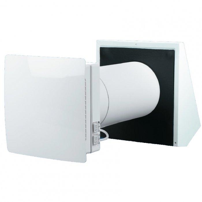 Вентиляционная установка Winzel Comfo RB1-50Проветриватели<br><br><br>Страна: Германия<br>Производитель: Германия<br>Поток воздуха мsup3; ч: 50<br>Рекуператор: Керамический аккумулятор<br>Пульт ДУ: Есть<br>Мощность нагревателя, кВт: None<br>Фильтр: G3/F8<br>Таймер: Нет<br>WiFi: Нет<br>Max мощность, кВт: 0,007<br>Питание, В: 220 В<br>Уровень шума, дБ: 32<br>Темп. эксплуатации, С: 30...+50<br>Класс защиты: IP24<br>Диаметр отверстия: 180<br>Габариты ВхШхГ, мм: 300x183,5x57<br>Вес, кг: 1<br>Гарантия: 5 лет<br>Ширина мм: 183.5<br>Высота мм: 300<br>Глубина мм: 57