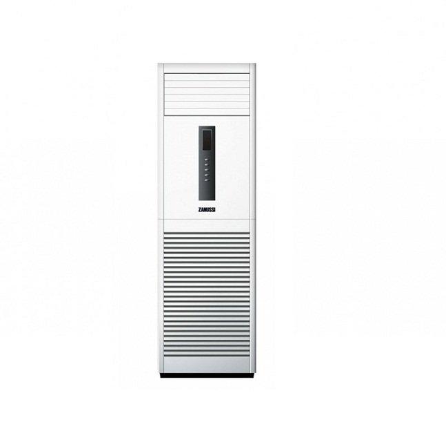 Колонный кондиционер Zanussi ZACF-48 H/N116 кВт - 56 BTU<br>Колонный кондиционер Zanussi ZACF-48 E/N1. Модель можно использовать круглый год, независимо от температуры окружающей среды. Четыре режима функционирования: охлаждение, обогрев, вентиляция и осушение. Предусмотрен таймер, с помощью которого пользователь может быстро запрограммировать работу оборудования на определенный промежуток времени. На внутреннем блоке расположена панель управления с интуитивно понятными кнопками или можно воспользоваться пультом дистанционного регулирования.<br>Функциональные возможности прибора предусматривают данные преимущества:<br><br>Используется озонобезопасный фреон R410A<br>Функциональные режимы: охлаждение/обогрев/вентиляция/осушение<br>Режим работы  Авто <br>Пульт дистанционного управления с подсветкой<br>Предусмотрен таймер<br>Авторестарт<br>Самодиагностика<br>Используется спиральный компрессор<br>Подогрев картера<br>Предусмотрен фазовый монитор<br>Гидрофильный испаритель<br>Используется двойной степ мотор<br>Защита от коррозии<br>Функция Defrost<br>Защита по давлению<br>Предусмотрен ночной режим<br>Встроенные ТЭНы<br>Оптимальный режим работы в ночное время<br>Предусмотрено управление с пульта<br><br>Климатическое оборудование на сегодняшний день является не роскошью, а необходимостью. Ведь обычный советский вентилятор не справляется с поставленной задачей в создании качественного микроклимата. Быстрое достижение необходимого температурного режима, полностью автоматическое подержание заданных параметров функционирование, отсутствует перерасход электроэнергии и дополняет все эти преимущества привлекательный внешний вид. Режим обогрева и охлаждения делают кондиционер актуальным в любое время года. Помимо стандартных режимов работы имеется высокоэффективная очистная система, которая устраняет пыль и освежает воздух в обслуживаемом помещении.<br><br>Уровень шума, дБа: 62<br>Страна: Италия<br>Габариты ВхШхГ, мм: 1050x950x340<br>Вес, кг: 96<br>Охлаждение, кВт: 14,0<br>Обогрев, 
