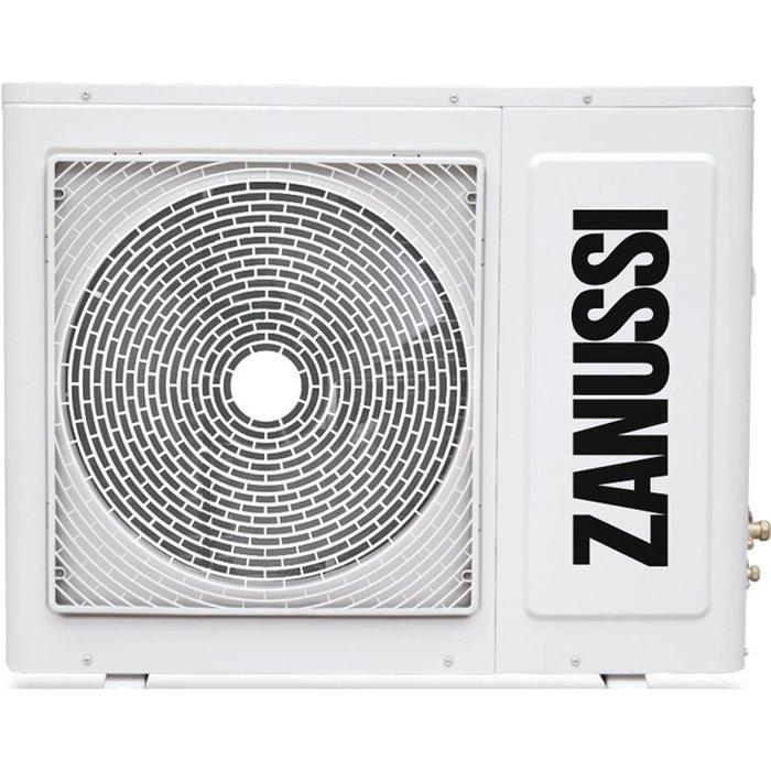 Наружный блок на 4 комнаты Zanussi ZACO/I-36 H4 FMI/N14 комнаты<br>Внешний блок на 4 комнаты модели Zanussi (Занусси) ZACO/I-36 H4 FMI/N1 представляет собой производительный и высокомощный климатический агрегат, участвующий в составе мультисплит-системы бытового типа. Данный наружный блок для дома инверторного типа используется для обслуживания четырех помещений, отличается стабильной и эффективной работой в разных условиях и стойко переносит низкую температуру.<br><br>Страна: Италия<br>Охлаждение вн.блока,кВт: None<br>Производитель: Китай<br>Обогрев вн.блока, кВт: None<br>Площадь вн.блока, м?: None<br>Компрессор: Инвертор<br>Площадь, м?: 105<br>Режим работы: холод/тепло<br>Охлаждение,кВт: 10,6<br>Горизонтальная регулировка потока: Нет<br>Уровень шума, дБа: 61<br>Обогрев, кВт: 11,1<br>Уровень шума, дБа: None<br>Габариты ВхШхГ, см: 96,5x99x35,5<br>Потребление при охлаждении, кВт: 1,334<br>Габариты ВхШхГ, см: None<br>Потребление при обогреве, кВт: 1,656<br>Охлаждающая способность, тыс btu: 36<br>Вес, кг: 86<br>Вес, кг: None<br>Диапазон t на охлаждение, С: +18...+43<br>Диапазон t на обогрев, С: 7...+24<br>Хладагент: R410A<br>Max 931; длина трасс, м : 70<br>Макс. длина трассы 1го блока, м: 25<br>Max колво комнат: 4<br>Max расход воздуха, м3/час: 3800<br>диаметр газовой трубы, дюйм: 3/8<br>диаметр жидкостной трубы, дюйм: 1/4<br>Фильтр тонкой очистки: Нет<br>Плазменный фильтр: Нет<br>Предварительный фильтр: Нет<br>Ионизатор воздуха: Нет<br>Самоочистка внут блока: Нет<br>Катехиновый фильтр: Нет<br>Антибактериальный фильтр: Нет<br>Подмес свежего воздуха: Нет<br>Авторестарт: Нет<br>Самодиагностика: Нет<br>Непрерывное движение заслонок: Нет<br>Теплый пуск: Нет<br>Пульт Д/У: Нет<br>Дисплей: Нет<br>Ночной режим: Нет<br>Авто режим: Нет<br>Сенсор движения: Нет<br>Напряжение, В: 220 В<br>Сила тока, А: 15,5 / 15,2<br>Гарантия: 3 года<br>Ширина мм: 990<br>Высота мм: 965<br>Глубина мм: 355