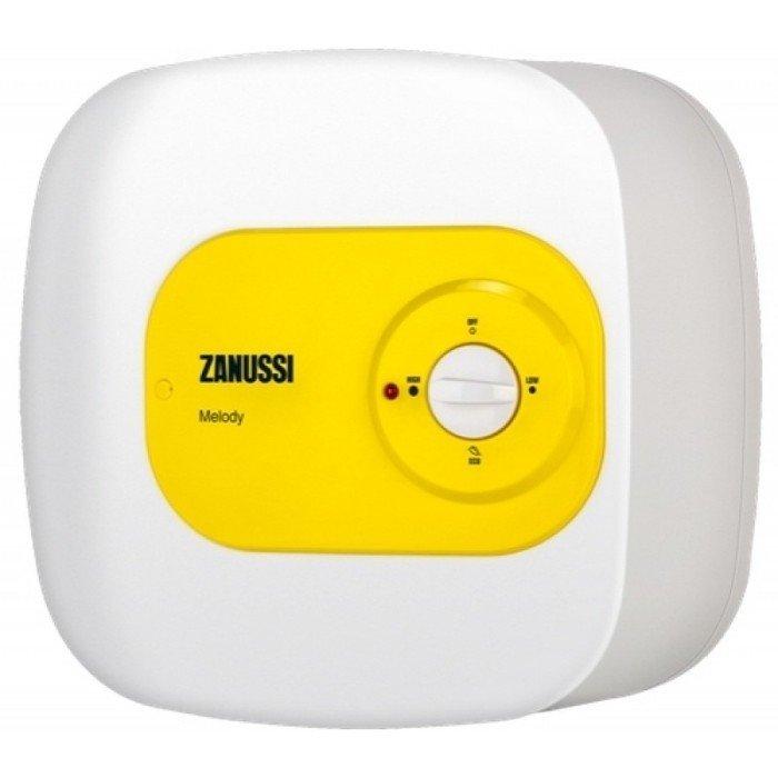Электрический накопительный водонагреватель на 15 литров Zanussi ZWH/S 15 Melody O15 литров<br>Электрический накопительный водонагреватель на 15 литров Zanussi (Занусси) ZWH/S 15 Melody O гарантирует простое управление и легкий монтаж. Устройство не требует серьезного обслуживания, имеет маленький объем бака (15 литров) и будет идеальным дачным решением. В отличие от наливных безнапорных моделей, прибор имеет более привлекательные потребительские характеристики. Предусмотрена эффективная защита от перегрева и сухого нагрева.<br><br>Страна: Италия<br>Производитель: Италия<br>Способ нагрева: Электрический<br>Нагревательный элемент: Трубчатый<br>Объем, л: 15<br>Темп. нагрева, С: 75<br>Мощность, кВт: 1,5<br>Напряжение сети, В: 220 В<br>Плоский бак: Нет<br>Узкий бак Slim: Нет<br>Магниевый анод: Нет<br>Колво ТЭНов: 1<br>Дисплей: Нет<br>Сухой ТЭН: Нет<br>Защита от перегрева: Есть<br>Покрытие бака: Эмаль<br>Тип установки: Вертикальная/Горизонтальная<br>Подводка: Нижняя<br>Управление: Механическое<br>Размеры ШхВхГ, см: 38.5x38.5x30.8<br>Вес, кг: 8<br>Гарантия: 2 года<br>Ширина мм: 385<br>Высота мм: 385<br>Глубина мм: 308