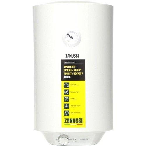 Водонагреватель Zanussi ZWH/S 50 Symphony HD50 литров<br>Zanussi (Занусси)&amp;nbsp;ZWH/S 50&amp;nbsp;Symphony&amp;nbsp;HD&amp;nbsp;&amp;ndash; это надежный емкостный водонагреватель для дома с эмалированным баком, который вмещает до пятидесяти литров горячей воды. Современная вертикальная модель оснащена многоуровневой системой защиты, благодаря чему эксплуатация прибора совершенно безопасна. Корпус водонагревателя выполнен в пылевлагозащитном исполнении с индексом IPX4.<br><br>Страна: Италия<br>Производитель: Китай<br>Способ нагрева: Электрический<br>Нагревательный элемент: Трубчатый<br>Объем, л: 50<br>Темп. нагрева, С: 75<br>Мощность, кВт: 1,5<br>Напряжение сети, В: 220 В<br>Плоский бак: Нет<br>Узкий бак Slim: Нет<br>Магниевый анод: Да<br>Колво ТЭНов: 1<br>Дисплей: Нет<br>Сухой ТЭН: Нет<br>Защита от перегрева: Есть<br>Покрытие бака: Эмаль<br>Тип установки: Вертикальная<br>Подводка: Нижняя<br>Управление: Механическое<br>Размеры ШхВхГ, см: 38.5x70.5x38.5<br>Вес, кг: 18<br>Гарантия: 2 года<br>Ширина мм: 385<br>Высота мм: 705<br>Глубина мм: 385