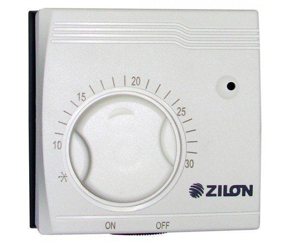 Термостат Zilon ZA-1Аксессуары<br>Модель комнатного термостата ZILON ZA-1 является опцией для всех видов инфракрасных обогревателей Zilon IR. Оборудование превосходно регулирует поддерживаемую температуру в обслуживающем помещении, управление понятное и доступное для любого пользователя. Небольшие габаритные размеры позволят приборчик спрятать, теперь эстетический внешний вид комнаты испорчен не будет лишней электроникой. Главным правилом безопасности является отсутствие повышенного уровня влажности и агрессивных сред эксплуатации. Встроен высокочувствительный сильфоновый элемент, заполнен газом. В качестве исходного материала для корпуса используется надежный и прочный пластик, который имеет повышенную износостойкость. Рекомендовано устанавливать на стене в 1,5 метра от пола.<br> Приобретая электронный термостат, Вы получаете:<br><br>комфортное управление Вашей тепловой пушкой<br>минимизация потребления электроэнергии<br>комфортный уровень температуры в обогреваемом помещении<br>соответствие европейским и российским требованиям к стандартам качества<br><br><br>Страна: Германия<br>Тип установки: Настенная<br>Мощность, кВт: None<br>Габариты, мм: 80x80x40<br>Гарантия: 1 год<br>Вес, кг: 1<br>Ширина мм: 80<br>Высота мм: 80<br>Глубина мм: 40