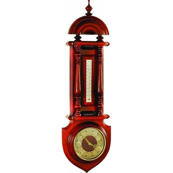 Часы с термометром Бриг+ М10 часыБарометры<br>Бриг+ М10 часы представляет собой привлекательный и лаконичный настенный сувенир, с помощью которого можно получить подлинную информацию о температуре воздуха внутри закрытого жилого или коммерческого помещения, а также узнать который час. Устройство имеет привлекательный деревянный корпус. Ртутный термометр позволит контролировать домашнюю температуру воздуха.<br><br>Страна: Россия<br>Диапазон p, мм. рт. ст.: None<br>Цвет: Барокко<br>Питание, В: Батарейки<br>Тип батарейки: АА<br>Тип установки: Вертикальная<br>Колво батареек: 1<br>Стиль исполнения: Классический<br>Термометр: Есть<br>Гигрометр: Нет<br>Часы: Есть<br>Габариты, мм: 1050х310<br>Вес, кг: 6<br>Гарантия: 1 год