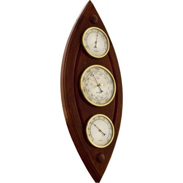 Деревянный барометр Бриг+ М-38Барометр+Гигро+Термо<br>Бриг+ М-38   это сразу несколько высокоточных измерительных приборов   жидкостный термометр, анероид и гигрометр   в деревянном корпусе для настенного размещения. Данное изделие гарантирует вам гармоничное сочетание с другими предметами интерьера и примет важное участие в оформлении гостиной, столовой или личного кабинета.<br><br>Страна: Россия<br>Диапазон p, мм. рт. ст.: 710800<br>Диапазон t, C: 20+50<br>Диапазон rH, : 0100<br>Цвет: Барокко<br>Питание, В: Нет<br>Тип батарейки: None<br>Колво батареек: None<br>Тип установки: Вертикальная<br>Стиль исполнения: Классический<br>Термометр: Есть<br>Гигрометр: Да<br>Часы: Нет<br>Габариты, мм: 155х405х40<br>Вес, кг: 1<br>Гарантия: 1 год<br>Ширина мм: 405<br>Высота мм: 155<br>Глубина мм: 40