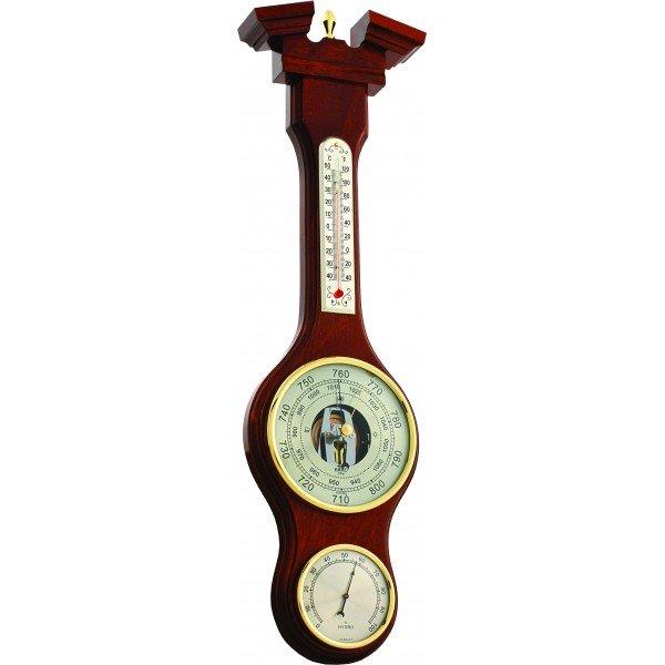 Барометр Бриг+ М-52Барометр+Гигро+Термо<br>Домашняя метеостанция Бриг+ М-52&amp;nbsp;состоит из нескольких измерительных приборов: точного гигрометра для измерения атмосферного давления, ртутного термометра для определения температурного показателя воздуха в помещении, гигрометра для получения информации о текущем уровне влажности. Данное устройство &amp;mdash; это не просто привлекательный и лаконичный аксессуар, простой в использовании, но и полезная находка для украшения любого дома.<br><br>Страна: Россия<br>Диапазон p, мм. рт. ст.: 710800<br>Диапазон t, C: 40+50<br>Диапазон rH, : 0100<br>Цвет: Барокко<br>Питание, В: Нет<br>Тип батарейки: None<br>Колво батареек: None<br>Тип установки: Вертикальная<br>Стиль исполнения: Классический<br>Термометр: Есть<br>Гигрометр: Да<br>Часы: Нет<br>Габариты, мм: 470х125<br>Вес, кг: 1<br>Гарантия: 1 год