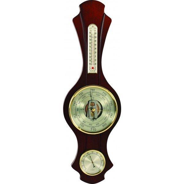 Барометр Бриг+ М-79 барометрБарометр+Гигро+Термо<br>Бриг+ М-79 барометр   это функциональное и лаконичное изобретение, которое представляет собой комплекс измерительных приборов, предназначенных помочь вам получить достоверную информацию о погодных и климатических изменениях. Приборы встроены в конструкцию из древесины высокого качества и прочности, которая к тому же имеет привлекательное цветовое исполнение.<br>Основные достоинства данной модели метеоприбора от компании Бриг+:<br><br>Качественные материалы изготовления<br>Привлекательный облик<br>Сохранность первозданного облика на долгие годы эксплуатации<br>Гарантия высокого качества<br>Барометр D130, термометр L130, гигрометр D70<br><br>Барометры от компании Бриг+ подарят вам идеальную возможность организовать пространственное оформление интерьера и при этом получить точные и всегда актуальные сведения о погодных условиях и микроклимате. Изделия выдержаны в строгом деловом стиле, бывают близки к морской тематике, и отличаются достойной презентабельностью и надежным исполнением из ценных пород дерева. <br><br>Страна: Россия<br>Диапазон p, мм. рт. ст.: 710800<br>Диапазон t, C: 40+50<br>Диапазон rH, : 0100<br>Цвет: Барокко<br>Питание, В: Нет<br>Тип батарейки: None<br>Колво батареек: None<br>Тип установки: Настенная<br>Стиль исполнения: Классический<br>Термометр: Есть<br>Гигрометр: Да<br>Часы: Нет<br>Габариты, мм: 500х160<br>Вес, кг: 1<br>Гарантия: 1 год