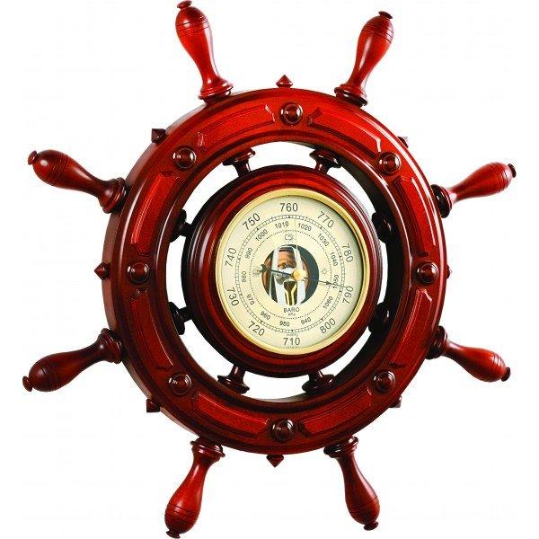 Барометр Бриг+ ШБСТ-С12/1 барометр, 8 ручекБарометры<br>Бриг+ ШБСТ-С12/1 барометр, 8 ручек сочетает в себе все достоинства и преимущества дорогих и солидных аксессуаров для создания в доме необычной и комфортной для каждого члена семьи атмосферы. Данное изделие имеет особенный шик и выглядит достаточно презентабельно, чтобы служить полноценным элементом декора для пространственного оформления интерьера. Конструкция выполнена из качественной древесины.<br>Основные достоинства данной модели метеоприбора от компании Бриг+:<br><br>Качественные материалы изготовления (корпус   высокопрочная древесина цвета  барокко )<br>Встроенный барометр с открытым механизмом<br>Количество ручек - 8<br>Диаметр барометра 197 мм<br>Привлекательный внешний вид<br>Сохранность первозданного облика на долгие годы эксплуатации<br>Гарантия высокого качества<br>Идеальный вариант для подарка<br><br>Барометры от компании Бриг+ подарят вам идеальную возможность организовать пространственное оформление интерьера и при этом получить точные и всегда актуальные сведения о погодных условиях и микроклимате. Изделия выдержаны в строгом деловом стиле, бывают близки к морской тематике, и отличаются достойной презентабельностью и надежным исполнением из ценных пород дерева. <br><br>Страна: Россия<br>Диапазон p, мм. рт. ст.: 710800<br>Цвет: Барокко<br>Питание, В: Нет<br>Тип батарейки: None<br>Тип установки: Вертикальная<br>Колво батареек: None<br>Стиль исполнения: Классический<br>Термометр: Нет<br>Гигрометр: Нет<br>Часы: Нет<br>Габариты, мм: 700x700<br>Вес, кг: 5<br>Гарантия: 1 год