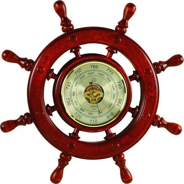 Барометр Бриг+ ШБСТ-С2 барометр, 8 ручекБарометры<br>Бриг+ ШБСТ-С2 барометр, 8 ручек &amp;mdash; это имеющий прямое отношение к судоходству измерительный прибор, который сочетает в себе высокую точность и оригинальность &amp;mdash; он выполнен в форме штурвала. Данное изделие станет отличным дополнением к любому интерьеру и поможет вам создать атмосферу уюта и комфорта внутри жилых помещений, где оно будет установлено.<br>Основные достоинства данной модели метеоприбора от компании Бриг+:<br><br>Качественные материалы изготовления (корпус &amp;ndash; высокопрочная древесина цвета &amp;laquo;барокко&amp;raquo;)<br>Встроенный барометр с открытым механизмом<br>Количество ручек - 8<br>Диаметр барометра 180 мм<br>Привлекательный внешний вид<br>Сохранность первозданного облика на долгие годы эксплуатации<br>Гарантия высокого качества<br>Идеальный вариант для подарка<br><br>Барометры от компании Бриг+ подарят вам идеальную возможность организовать пространственное оформление интерьера и при этом получить точные и всегда актуальные сведения о погодных условиях и микроклимате. Изделия выдержаны в строгом деловом стиле, бывают близки к морской тематике, и отличаются достойной презентабельностью и надежным исполнением из ценных пород дерева.&amp;nbsp;<br><br>Страна: Россия<br>Диапазон p, мм. рт. ст.: 710800<br>Цвет: Барокко<br>Питание, В: Нет<br>Тип батарейки: None<br>Тип установки: Вертикальная<br>Колво батареек: None<br>Стиль исполнения: Классический<br>Термометр: Нет<br>Гигрометр: Нет<br>Часы: Нет<br>Габариты, мм: 600x600<br>Вес, кг: 4<br>Гарантия: 1 год