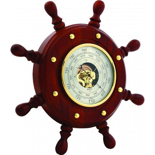 Барометр Бриг+ ШБСТ-С8 барометр, 8 ручекБарометры<br>Если ваши друзья любят морскую тематику, то сувенир Бриг+ ШБСТ-С8 барометр, 8 ручек станет достойным подарком для них. Данное изделие выполнено в оригинальной форме и представляет собой штурвал, что делает его интересным элементом интерьера, который подчеркнет хороший и богатый вкус хозяев квартиры или индивидуального дома. Используемые материалы &amp;mdash; натуральное дерева и латунь.<br>Основные достоинства данной модели метеоприбора от компании Бриг+:<br><br>Качественные материалы изготовления (корпус &amp;ndash; высокопрочная древесина цвета &amp;laquo;барокко&amp;raquo;)<br>Встроенный барометр с открытым механизмом<br>Количество ручек - 8<br>Диаметр барометра 180 мм<br>Привлекательный внешний вид<br>Сохранность первозданного облика на долгие годы эксплуатации<br>Гарантия высокого качества<br>Идеальный вариант для подарка<br><br>Барометры от компании Бриг+ подарят вам идеальную возможность организовать пространственное оформление интерьера и при этом получить точные и всегда актуальные сведения о погодных условиях и микроклимате. Изделия выдержаны в строгом деловом стиле, бывают близки к морской тематике, и отличаются достойной презентабельностью и надежным исполнением из ценных пород дерева.&amp;nbsp;<br><br>Страна: Россия<br>Диапазон p, мм. рт. ст.: 710800<br>Цвет: Барокко<br>Питание, В: Батарейки<br>Тип батарейки: None<br>Тип установки: Вертикальная<br>Колво батареек: None<br>Стиль исполнения: Классический<br>Термометр: Нет<br>Гигрометр: Нет<br>Часы: Нет<br>Габариты, мм: 330x330<br>Вес, кг: 2<br>Гарантия: 1 год