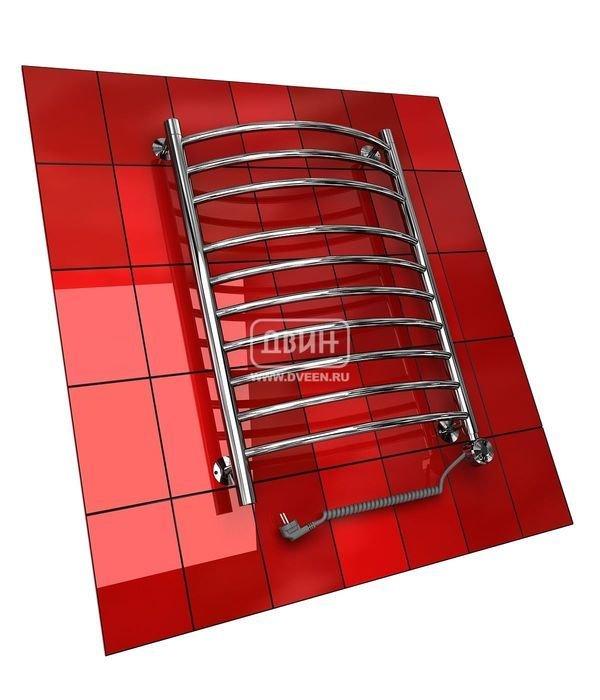Электрический полотенцесушитель Двин K (1 - 1/2) 100/50 elЛесенка<br>Двин K (1 - 1/2) 100/50 el   это электрический полотенцесушитель с плавными и эргономичными формами конструкции, который способен не только на сушку полотенец или других изделий из текстиля, но и на безопасный и оптимальный обогрев воздуха в ванной комнате. Доступна установка в городскую квартиру, административное здание и даже в загородный дом или на дачу, где пригодится функция  Анти-фриз . <br>Особенности и преимущества электрических полотенцесушителей Двин серии K el:<br><br>Залит теплоноситель Теплый Дом ЭКО. Он производится на основе европейского высококачественного пропиленгликоля и предназначен для применения в системах отопления (экологически безопасен)<br>Установлен нагревательный ТЭН Terma (производитель Польша)<br>Блок управления ТЭНом имеет очень простое управление - всего 3 кнопки:  +  и  -  и кнопка вкл/выкл.<br>Производятся с учетом особенностей нашей системы горячего водоснабжения и отопления.<br>Пищевая нержавеющая сталь - AISI 304.<br>Толщина стенки коллектора - 2 мм.<br>Давление при испытании - 40 атм.<br>Рабочая температура 30-80 С.<br>Питание электрической сети - 220В 50Гц.<br>Экономичное потребление энергии.<br>Тепловая мощность в зависимости от типоразмера полотенцесушителя до 740 Q-Вт.<br><br>Комплектация:<br><br>полотенцесушитель,<br>упаковка (картонная коробка, полиэтиленовый пакет),<br>гарантийный талон,<br>паспорт на изделие,<br>комплект крепежей.<br><br>Выберите свой цвет полотенцесушителя:<br> <br>Цена указана за полотенцесушители без цветного покрытия. Для определения стоимости прибора в цвете обратитесь к менеджеру.<br>Обратите внимание! Полотенцесушитель поставляется под заказ. Срок выполнения заказа 10 дней.<br>Электрические полотенцесушители из серии K el   это разработка производственной компании  Двин , которая внимательно подходит к созданию сантехнического оборудования и прежде всего ориентирована на потребителя и его желания. Модели, представленные в этой се