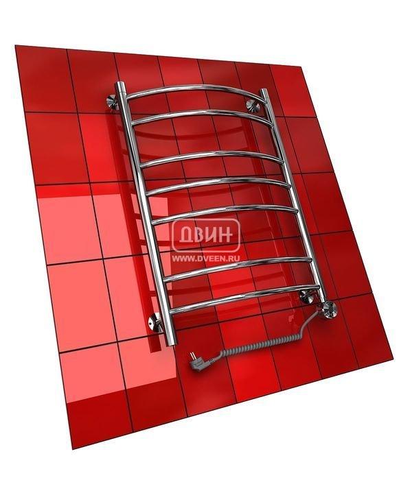 Электрический полотенцесушитель Двин L (1 - 1/2) 100/50 elЛесенка<br>Электрический полотенцесушитель типа  лесенка  Двин L (1 - 1/2) 100/50 el является современным устройством для сушки текстильных изделий и обогрева воздуха в помещении, благодаря функции  Анти-фриз  может быть установлен в загородном доме, коттедже или на даче. Доступный диапазон регулирования температуры терморегулятором   от 20 до 60 C (шаг 10 градусов). <br>Особенности и преимущества электрических полотенцесушителей Двин серии L el:<br><br>Залит теплоноситель Теплый Дом ЭКО. Он производится на основе европейского высококачественного пропиленгликоля и предназначен для применения в системах отопления (экологически безопасен)<br>Установлен нагревательный ТЭН Terma (производитель Польша)<br>Блок управления ТЭНом имеет очень простое управление - всего 3 кнопки:  +  и  -  и кнопка вкл/выкл.<br>Производятся с учетом особенностей нашей системы горячего водоснабжения и отопления.<br>Пищевая нержавеющая сталь - AISI 304.<br>Толщина стенки коллектора - 2 мм.<br>Давление при испытании - 40 атм.<br>Рабочая температура 30-80 С.<br>Питание электрической сети - 220В 50Гц.<br>Экономичное потребление энергии.<br>Тепловая мощность в зависимости от типоразмера полотенцесушителя до 630 Q-Вт.<br><br>Комплектация:<br><br>полотенцесушитель,<br>упаковка (картонная коробка, полиэтиленовый пакет),<br>гарантийный талон,<br>паспорт на изделие,<br>комплект крепежей.<br><br>Выберите свой цвет полотенцесушителя:<br> <br>Цена указана за полотенцесушители без цветного покрытия. Для определения стоимости прибора в цвете обратитесь к менеджеру.<br>Обратите внимание! Полотенцесушитель поставляется под заказ. Срок выполнения заказа 10 дней.<br>Серия L el   это обширный модельный ряд электрических полотенцесушителей типа  лесенка , которые могут быть успешно установлены в любом помещении с помощью монтажных элементов из комплекта поставки, потому что не требуют подключения к системе горячего водоснабжения или отопления. Регулятор тем