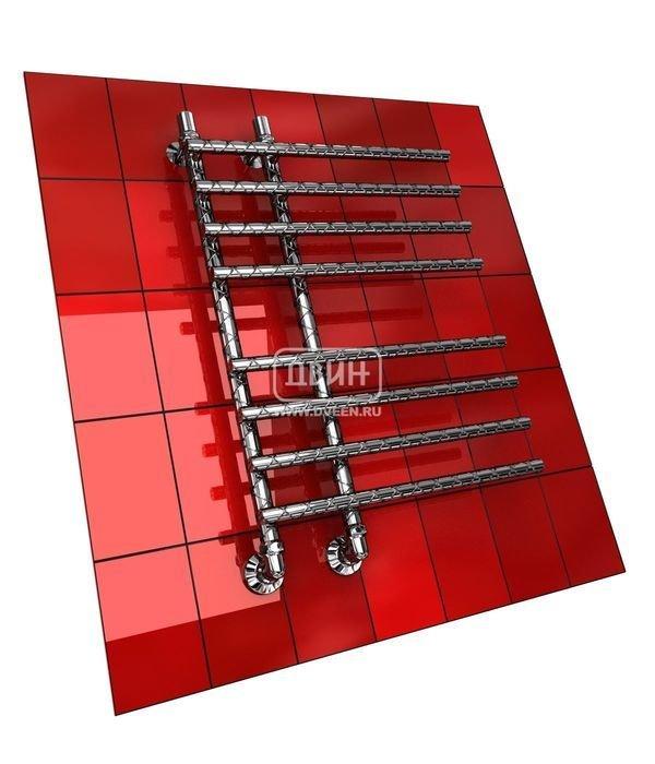 Водяной полотенцесушитель Двин L TWIST 80/15/55Лесенка<br>Двин L TWIST 80/15/55 &amp;ndash; это еще одна модель полотенцесушителя для подключения к системе снабжения горячей водой. Прибор укомплектован элементами, которые понадобятся вам для осуществления монтажа. Подключение воды к полотенцесушители нижнее, что обусловлено его конструкцией. Несмотря на достаточно большой размер, &amp;nbsp;прибор не займет полезное пространство, так как разместится на стене, практически вплотную к ней.<br>Особенности и преимущества водяных полотенцесушителей Двин серии F TWIST:<br><br>оборудование создает тепло и сухость в комнате;<br>не нужен доступ к электросети;<br>не требуется создание заземления при монтаже, а также покупка особых розеток;<br>отличаются безопасностью, так как прибор не взаимодействует с электричеством.<br>производятся с учетом особенностей российской системы горячего водоснабжения и отопления.<br><br>Комплектация:<br><br>полотенцесушитель<br>упаковка (картонная коробка, полиэтиленовый пакет)<br>гарантийный талон<br>паспорт на изделие<br>фитинги:<br><br><br>колпачок декоративный - 2 шт<br>клапан &amp;laquo;Маевского&amp;raquo; - 2 шт<br>муфта переходная с крепежным поворотным кольцом - 2 шт<br>кронштейн телескопический -2 шт<br>уплотнительная прокладка 6 шт<br>угловое соединение г/г 1* на 3/4*-2 шт<br>отражатель декоративный &amp;frac34;-2 шт<br>эксцентрик &amp;frac12; на &amp;frac34;-2 шт.<br><br>Выберите свой цвет полотенцесушителя:<br>&amp;nbsp;<br>При заказе в цвете вся фурнитура и краны тоже будут окрашены в цвет.<br>Цена указана за полотенцесушители без цветного покрытия. Для определения стоимости прибора в цвете обратитесь к менеджеру.<br>Обратите внимание! Товар поставляется под заказ. Срок выполнения заказа 10 дней.<br>Двин L TWIST &amp;ndash; это новинка от российской торговой марки. Семейство представлено полотенцесушителями не совсем обычной конструкции: оси находятся на небольшом расстоянии друг от друга, а перекладины с одной стороны ничем не огран