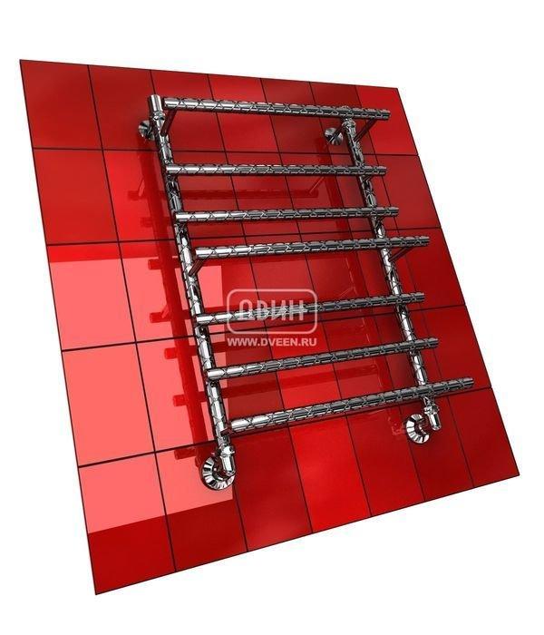 Водяной полотенцесушитель Двин Q TWIST 80/60Лесенка<br>Подвод горячей воды к полотенцесушителю Двин Q TWIST 80/60 осуществляется снизу. Выполнена модель в форме лесенки, причем несколько перекладин немного выдвинуты вперед относительно остальных. Поверхность полотенцесушителя имеет оригинальную фактуру, которая не встретится ни у одного аналога. Модель доступна как с хромированной поверхностью без покрытия, так и в большом ассортименте цветов.<br>Особенности и преимущества водяных полотенцесушителей Двин серии Q TWIST:<br><br>оборудование создает тепло и сухость в комнате;<br>не нужен доступ к электросети;<br>не требуется создание заземления при монтаже, а также покупка особых розеток;<br>отличаются безопасностью, так как прибор не взаимодействует с электричеством.<br>производятся с учетом особенностей российской системы горячего водоснабжения и отопления.<br><br>Комплектация:<br><br>полотенцесушитель<br>упаковка (картонная коробка, полиэтиленовый пакет)<br>гарантийный талон<br>паспорт на изделие<br>фитинги:<br><br><br>колпачок декоративный - 2 шт<br>клапан &amp;laquo;Маевского&amp;raquo; - 2 шт<br>муфта переходная с крепежным поворотным кольцом - 2 шт<br>кронштейн телескопический -2 шт<br>уплотнительная прокладка 6 шт<br>угловое соединение г/г 1* на 3/4*-2 шт<br>отражатель декоративный &amp;frac34;-2 шт<br>эксцентрик &amp;frac12; на &amp;frac34;-2 шт.<br><br>Выберите свой цвет полотенцесушителя:<br>&amp;nbsp;<br>При заказе в цвете вся фурнитура и краны тоже будут окрашены в цвет.<br>Цена указана за полотенцесушители без цветного покрытия. Для определения стоимости прибора в цвете обратитесь к менеджеру.<br>Обратите внимание! Товар поставляется под заказ. Срок выполнения заказа 10 дней.<br>Серия водяных полотенцесушителей Q TWIST от компании Двин представлена достаточно широким модельным рядом, который включает приборы разного размера, от совсем маленьких полотенцесушителей с несколькими перекладинами до метровых приборов. Каждый агрегат прошел проверку с высоким ис